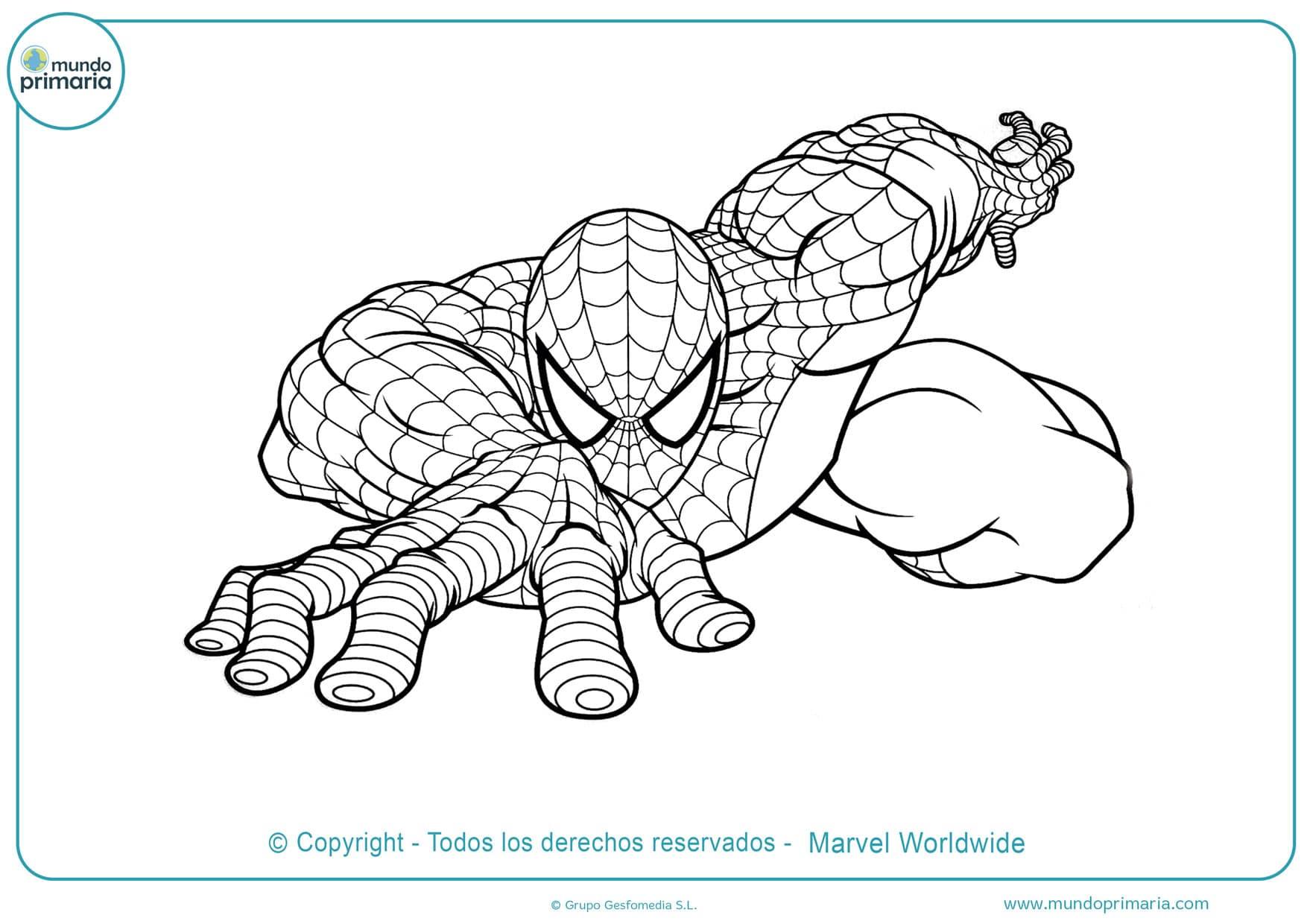 dibujos para colorear de spiderman gratis