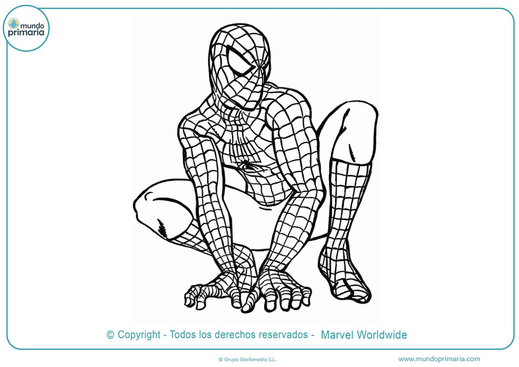 dibujos para colorear de spiderman para imprimir