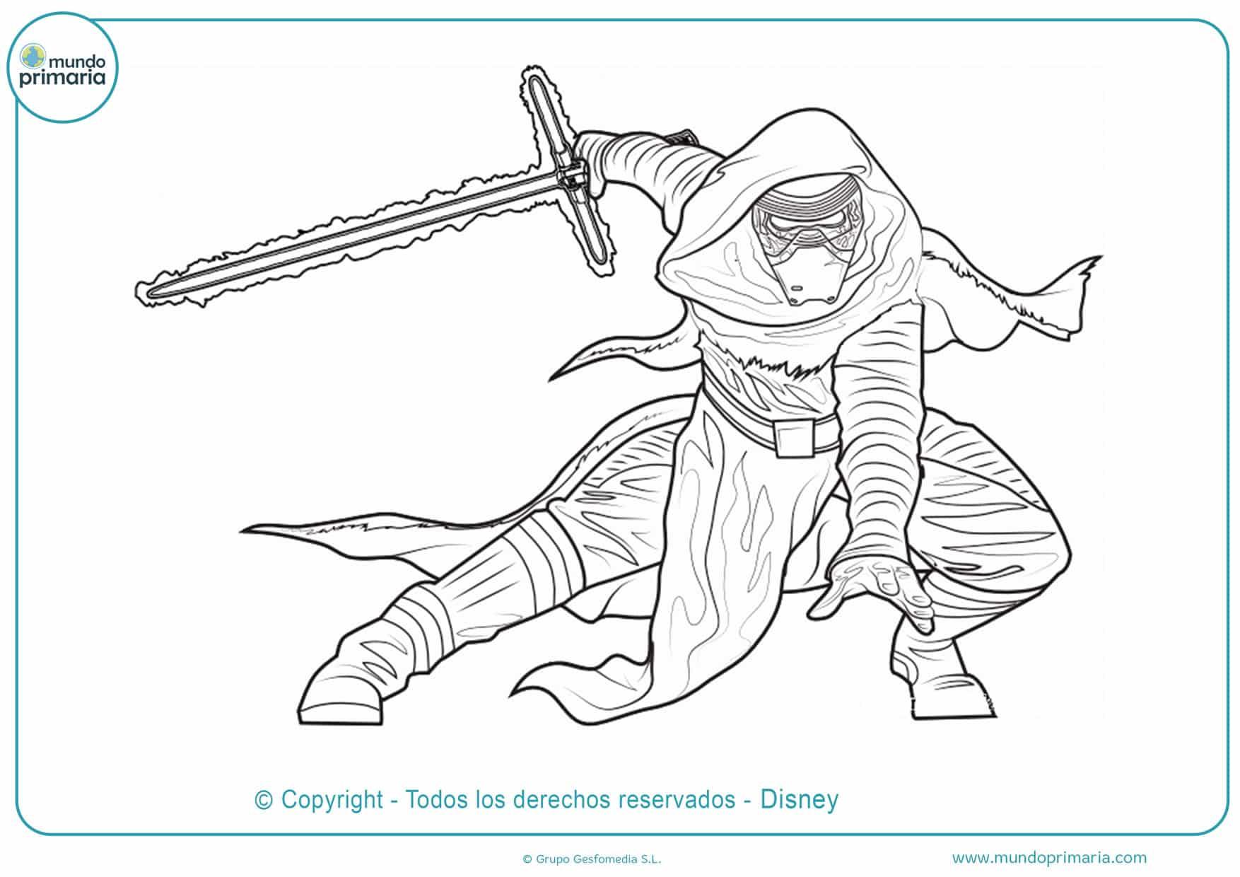 dibujos para colorear de star wars anakin