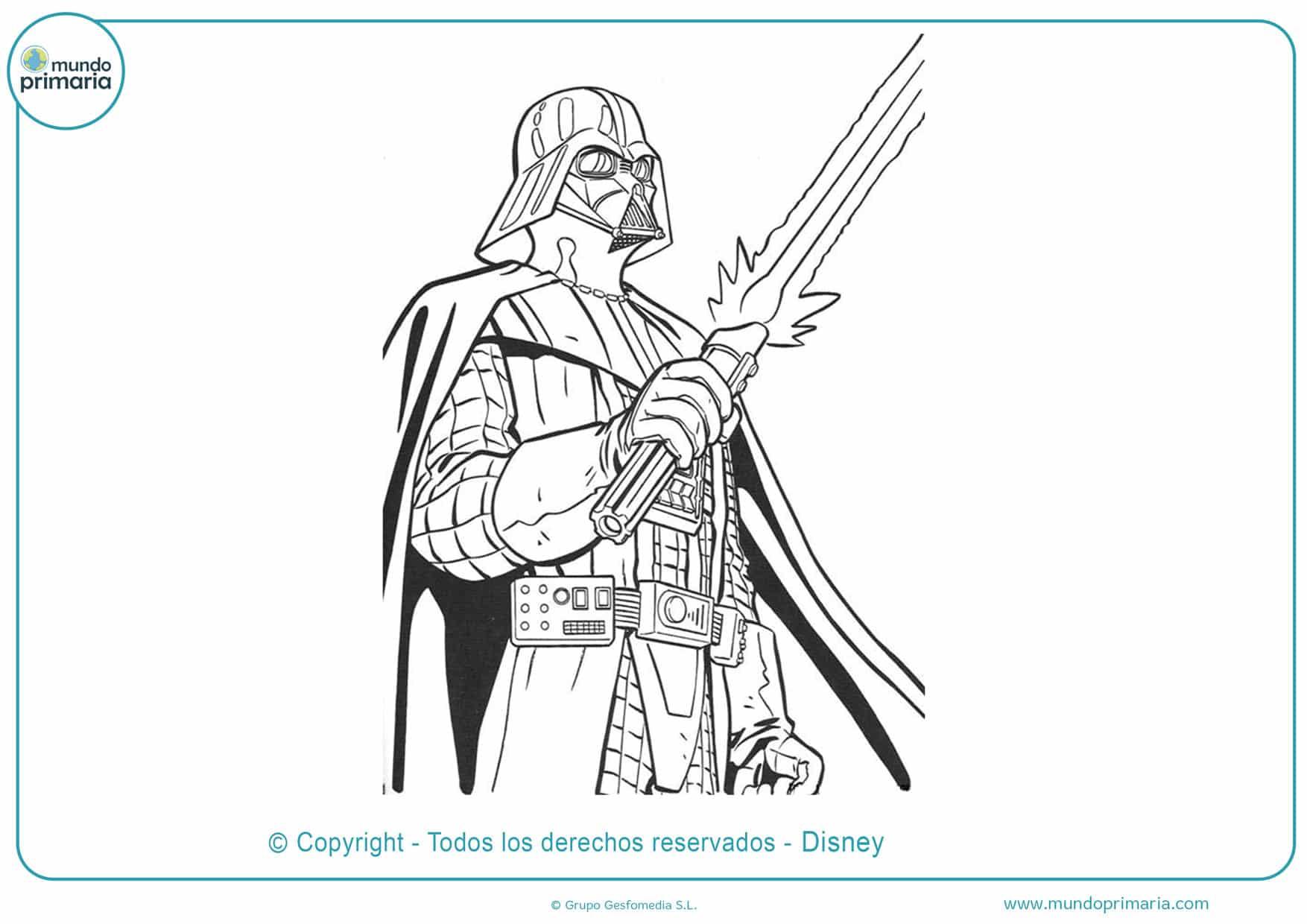 dibujos para colorear de star wars darth vader