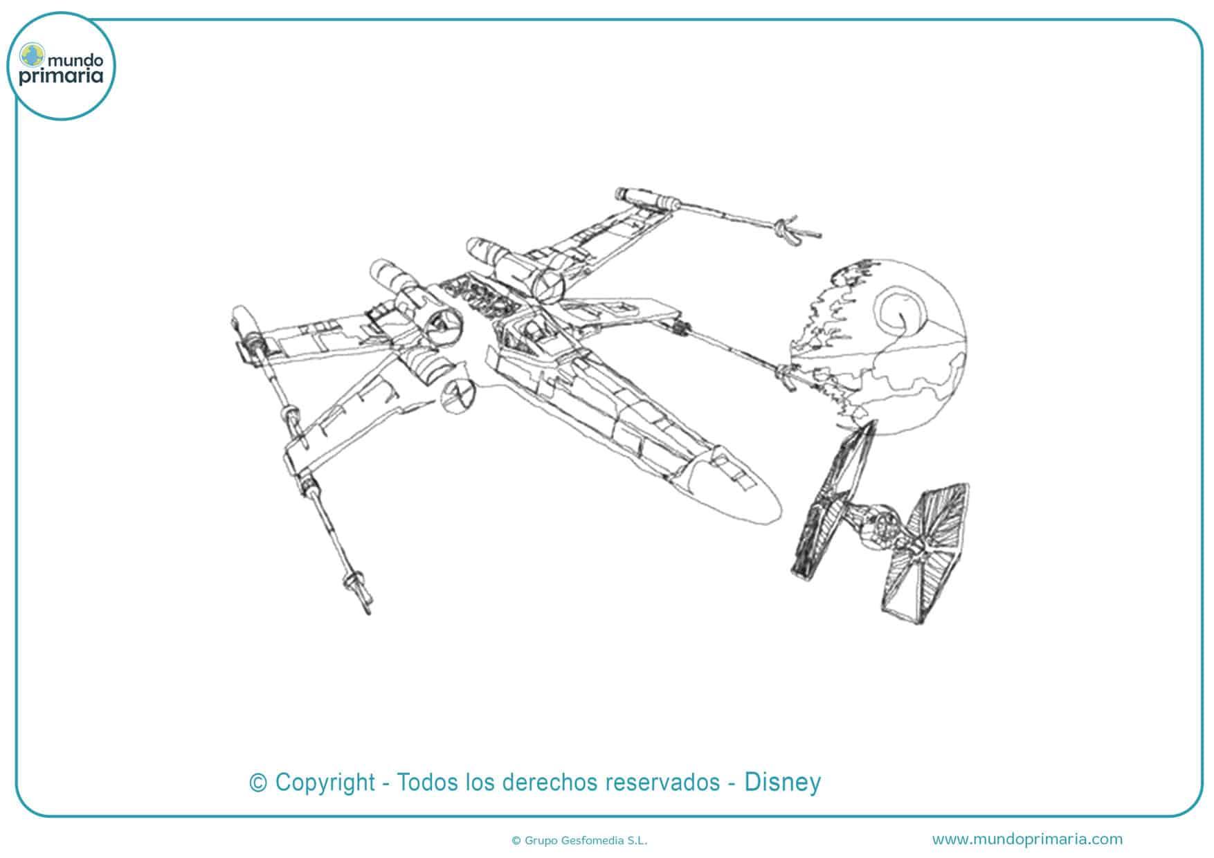 dibujos para colorear de star wars estrella de la muerte