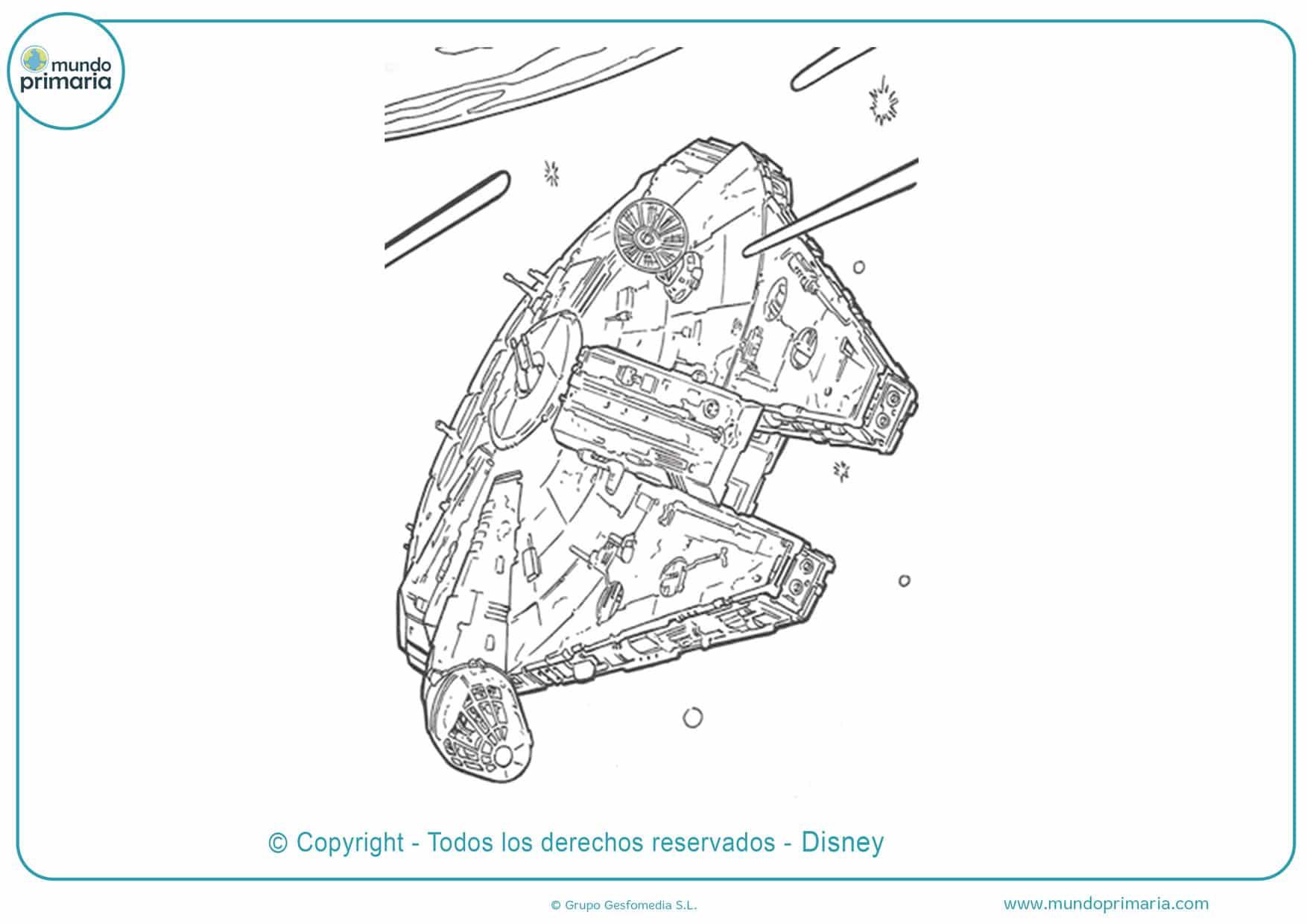 dibujos para colorear de star wars naves