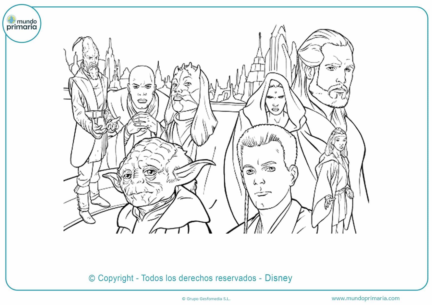 dibujos para colorear de star wars para imprimir
