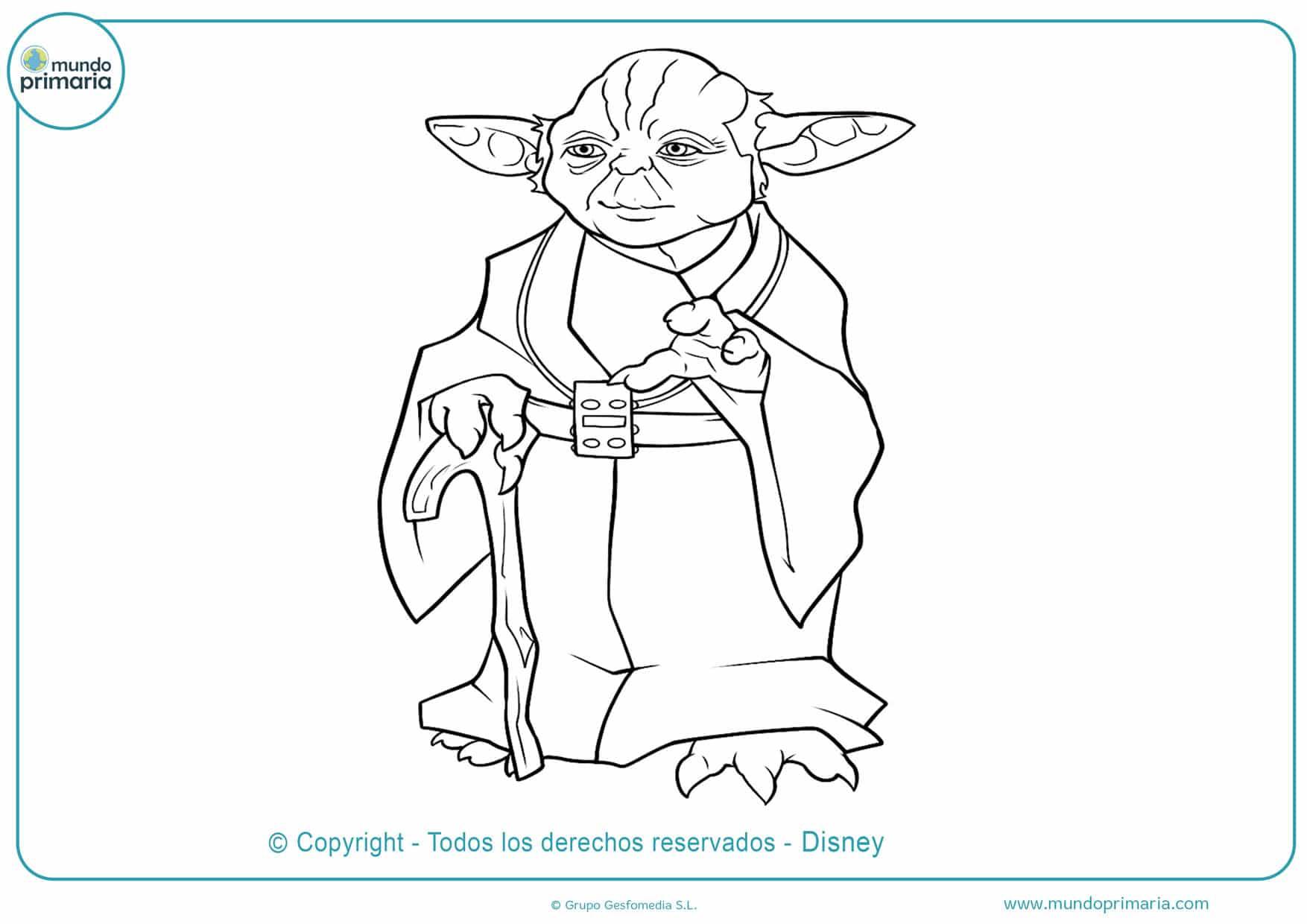 dibujos para colorear de star wars el poder de la fuerza