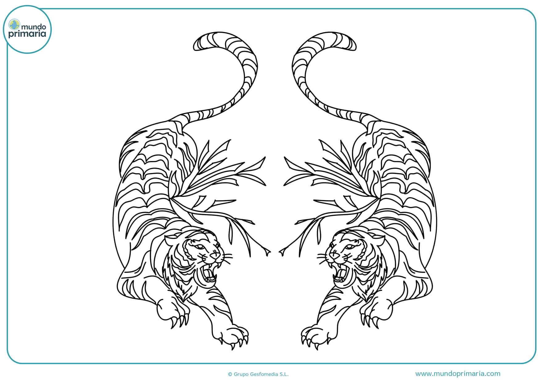 dibujos para colorear de tigres de bengala