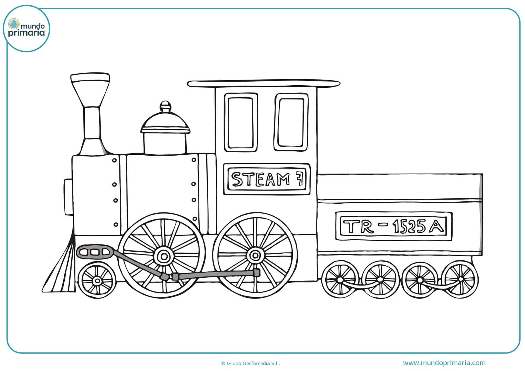 dibujos para colorear de trenes de alta velocidad