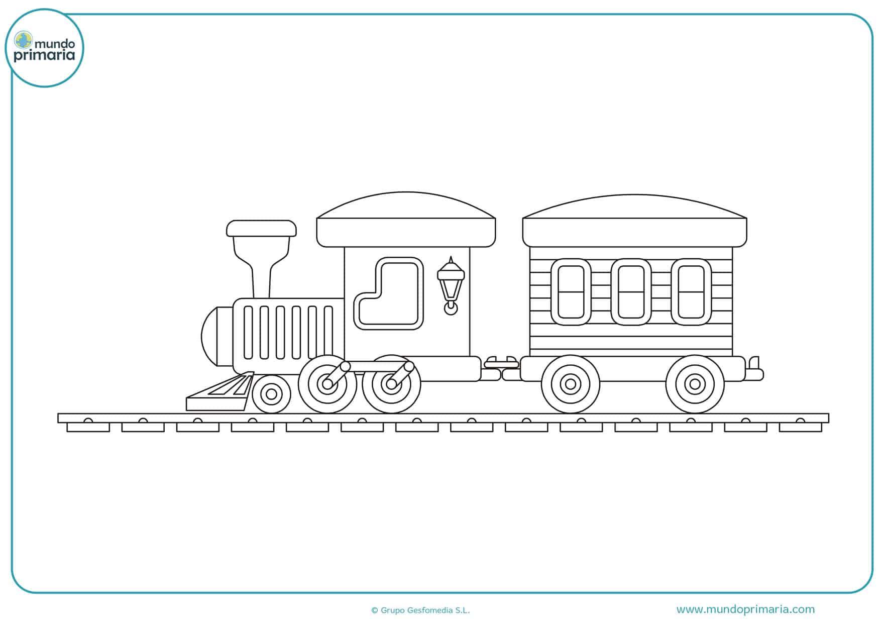 dibujos para colorear de trenes infantiles