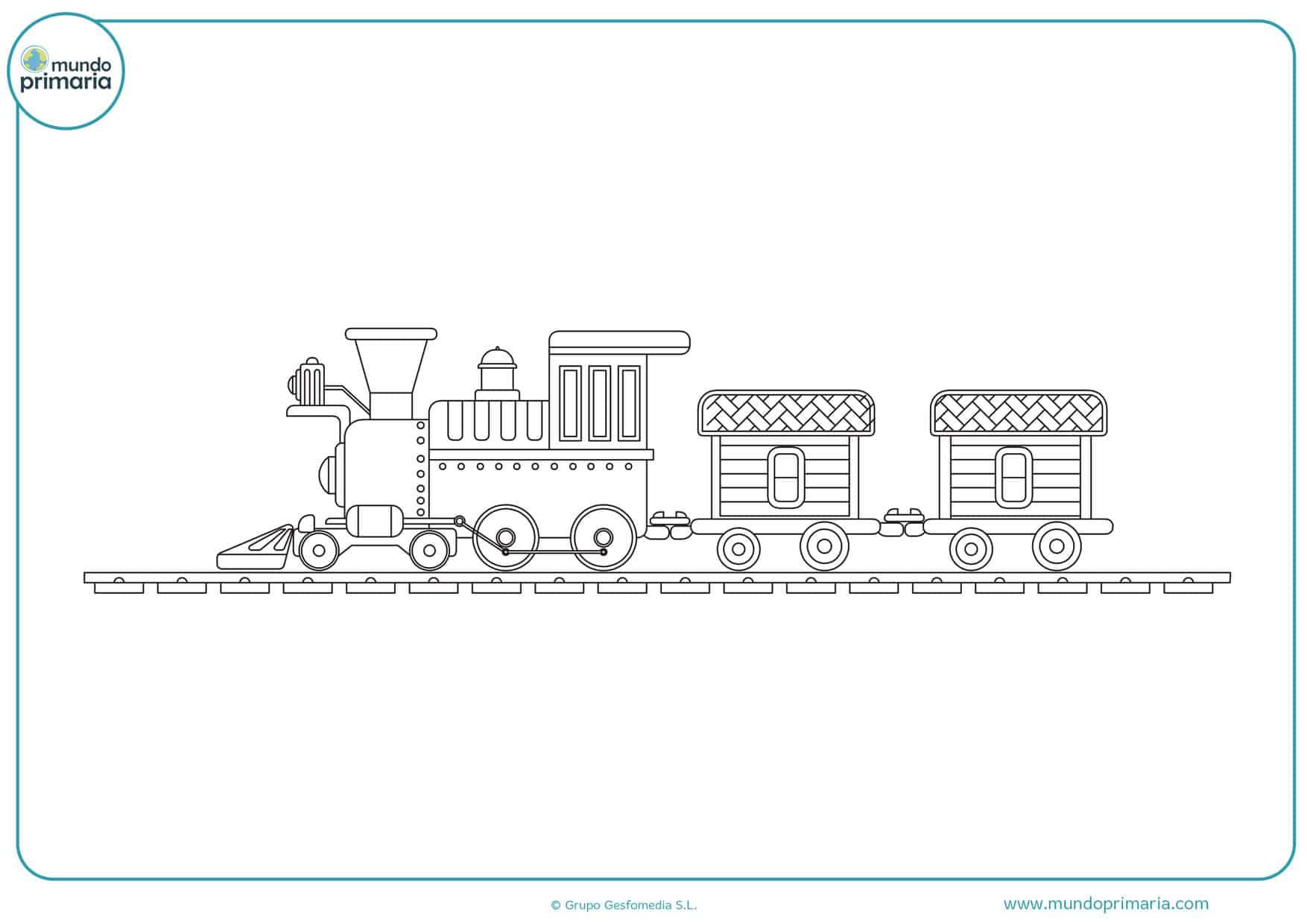 dibujos para colorear de trenes con vagones