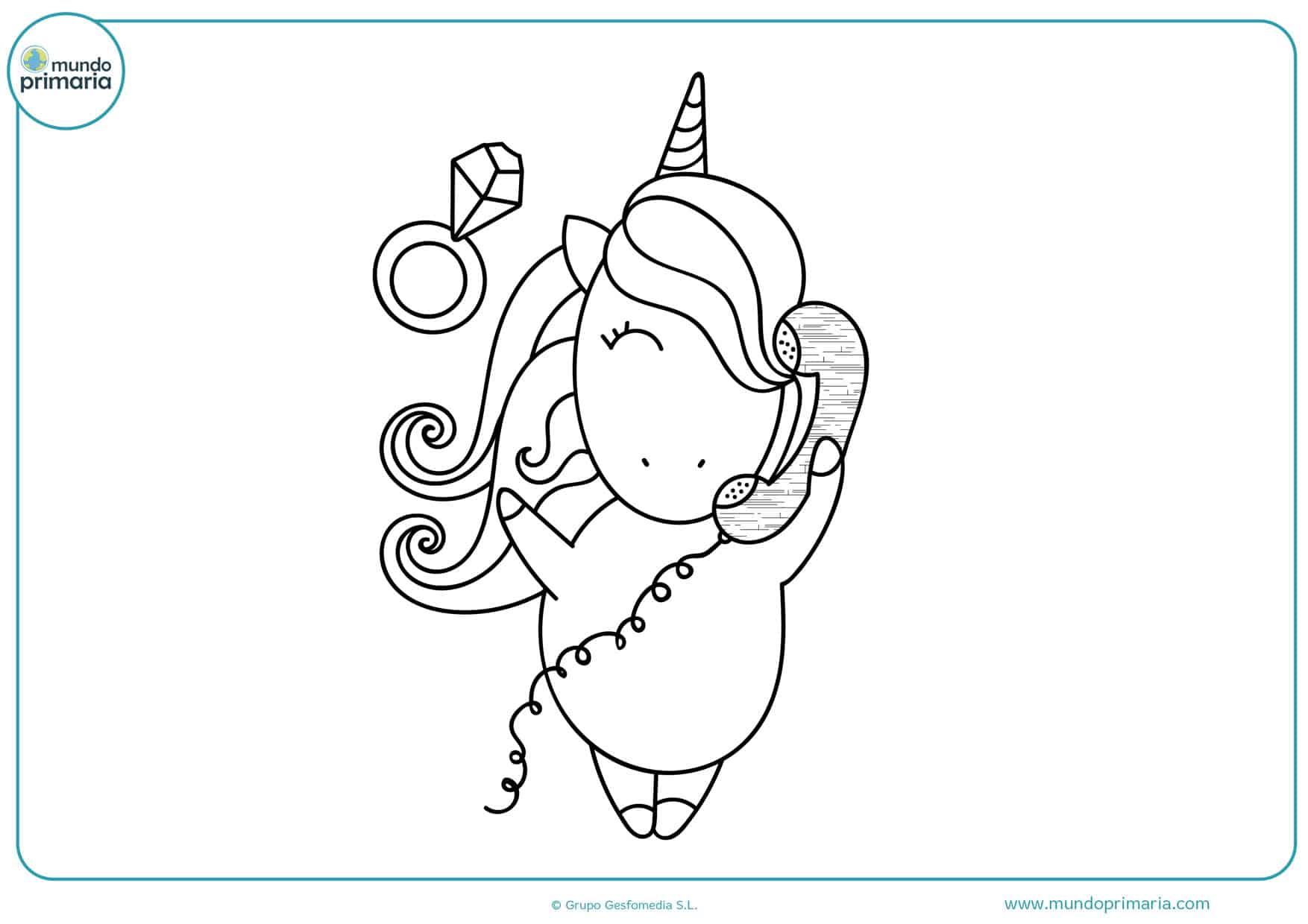dibujos para colorear de unicornios difíciles