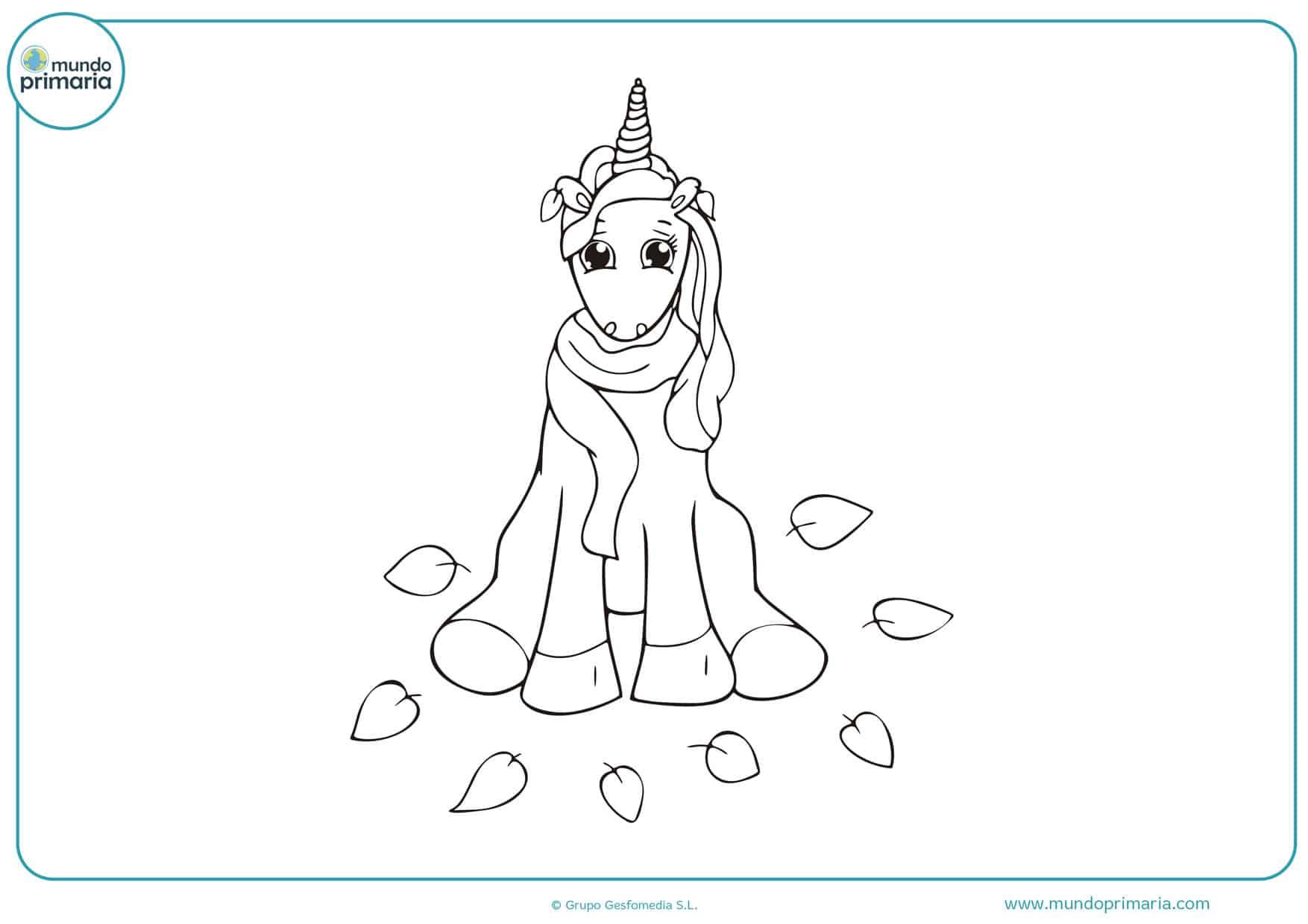 dibujos para colorear de unicornios divertidos
