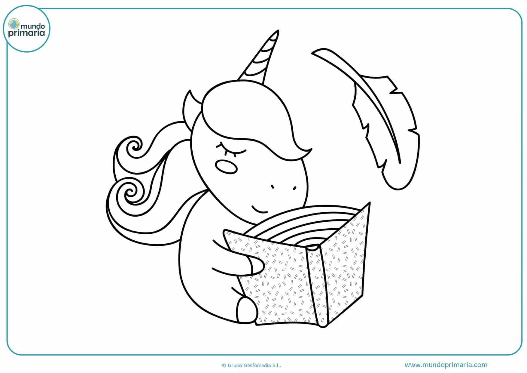 dibujos para colorear de unicornios fáciles