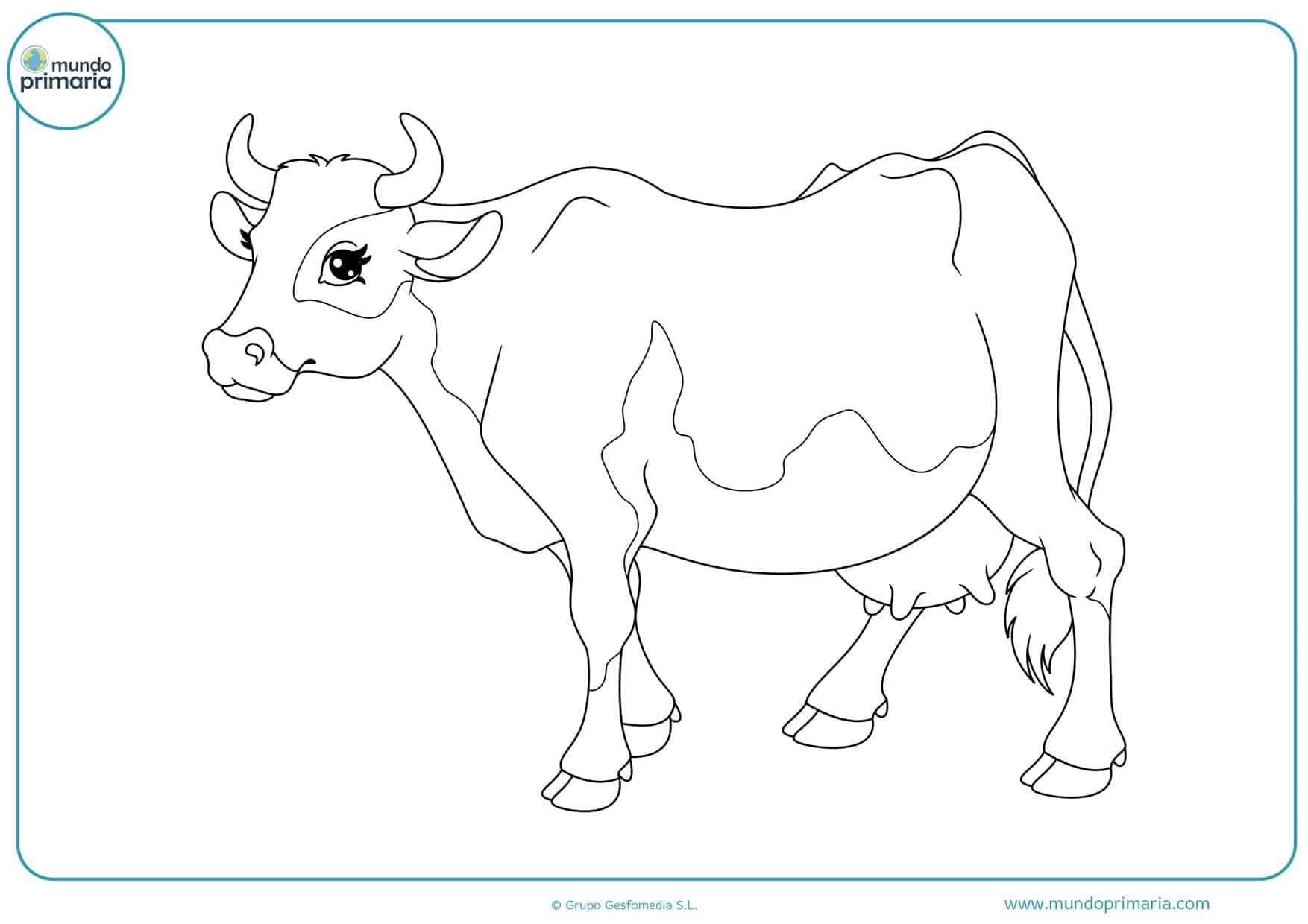dibujos para colorear de vacas lecheras