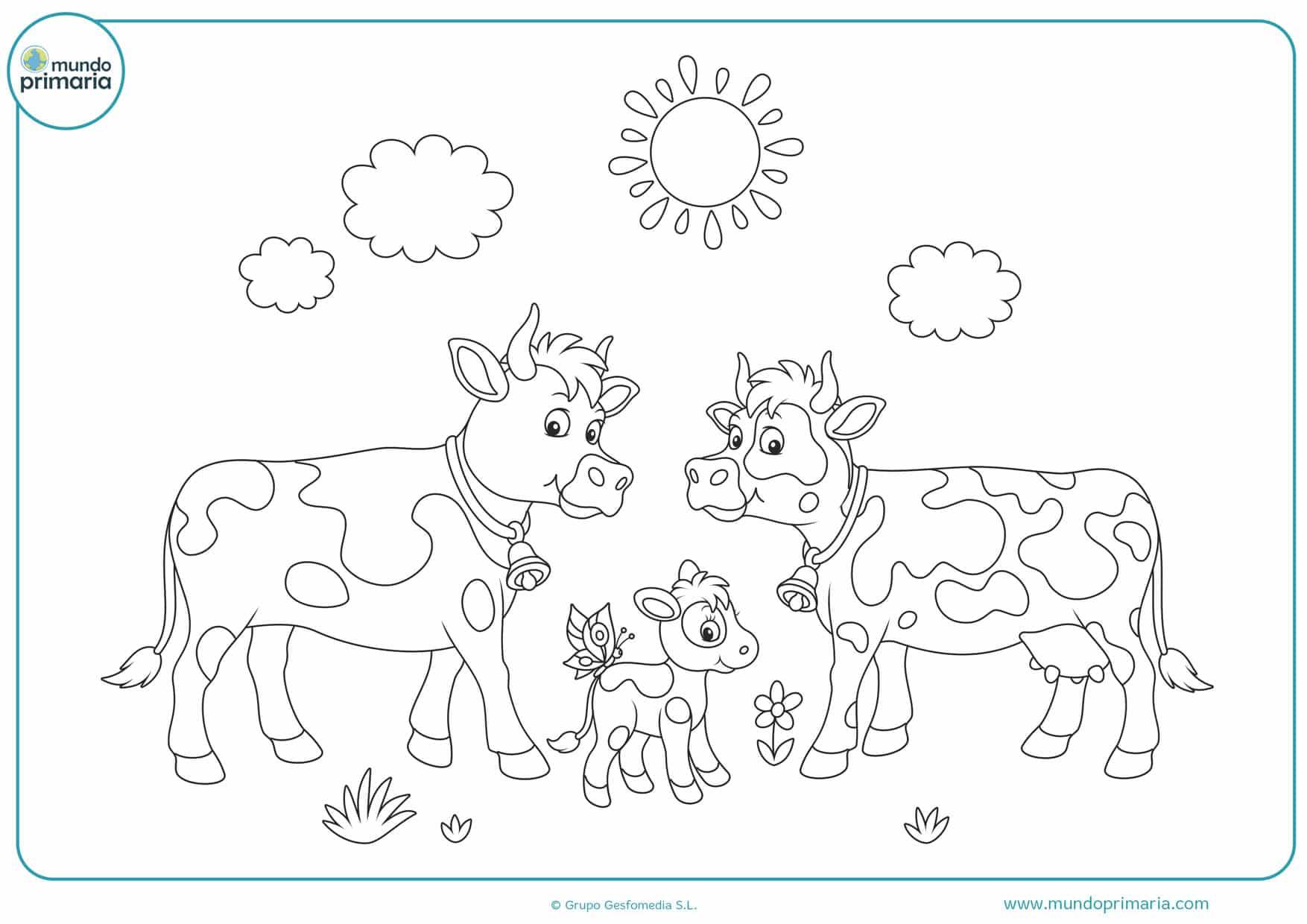 dibujos para colorear de vacas tiernas