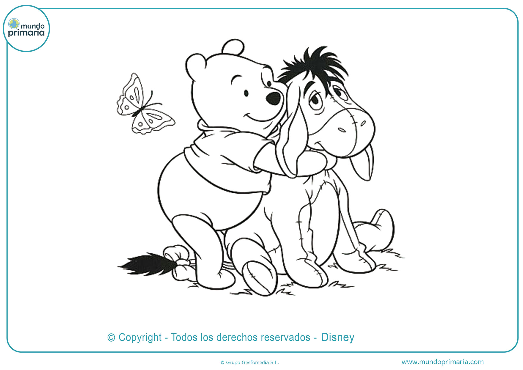 dibujos para colorear de winnie pooh y sus amigos