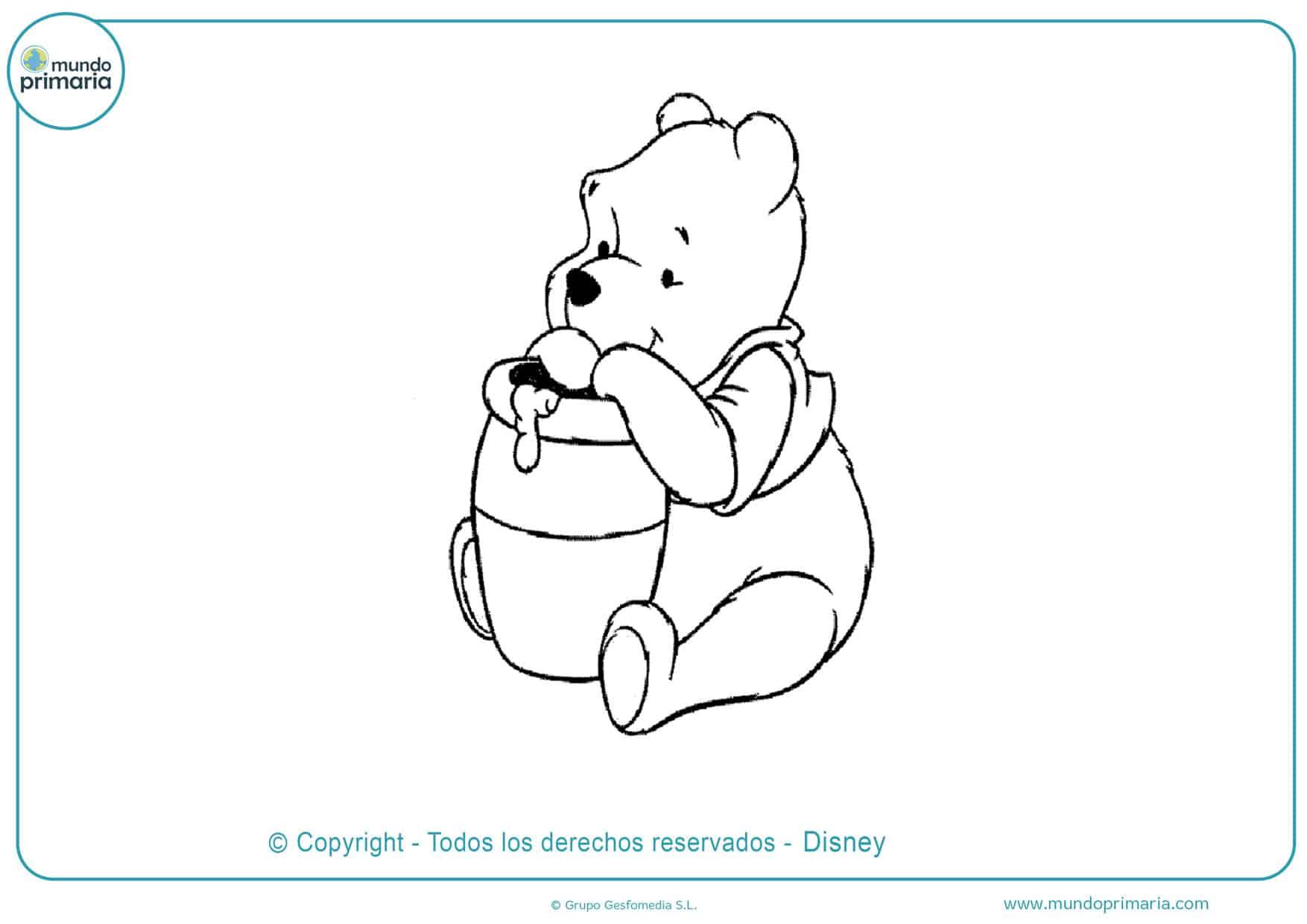 dibujos para colorear de winnie pooh bebe