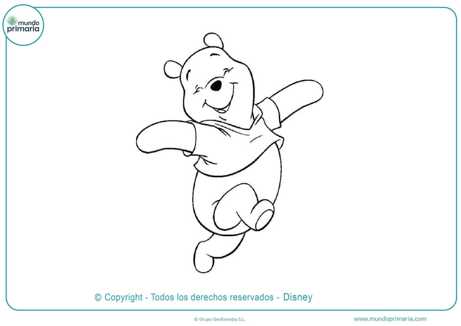 dibujos para colorear de winnie pooh feliz