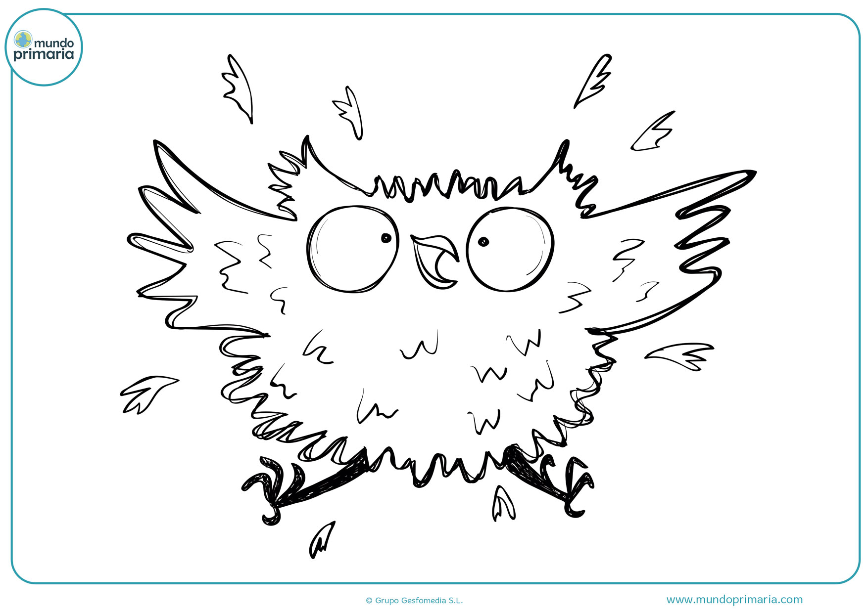 dibujos para imprimir y colorear de búhos