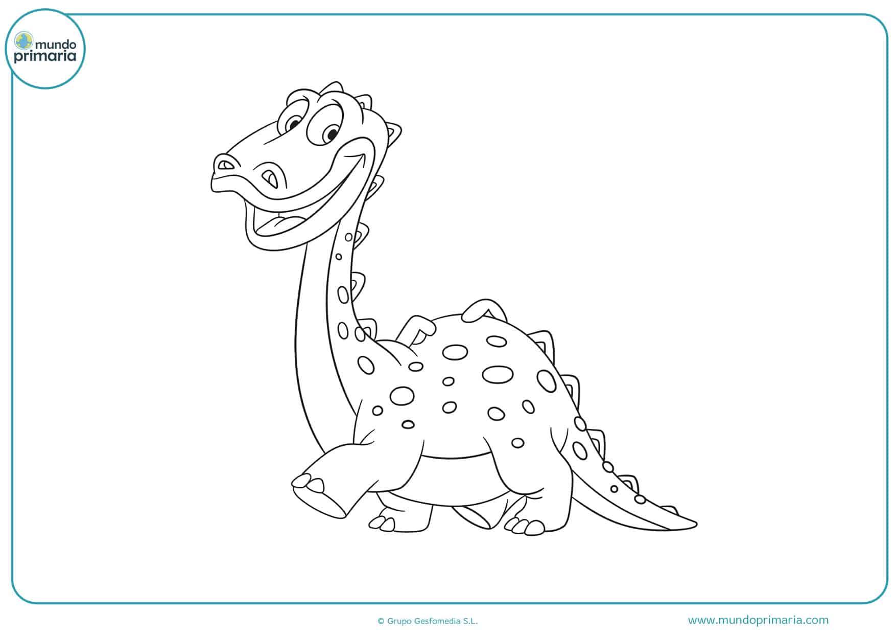 dibujos para imprimir y colorear de dinosaurios