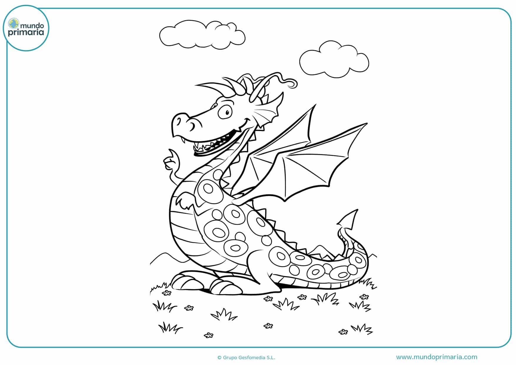dibujos para imprimir y colorear de dragones