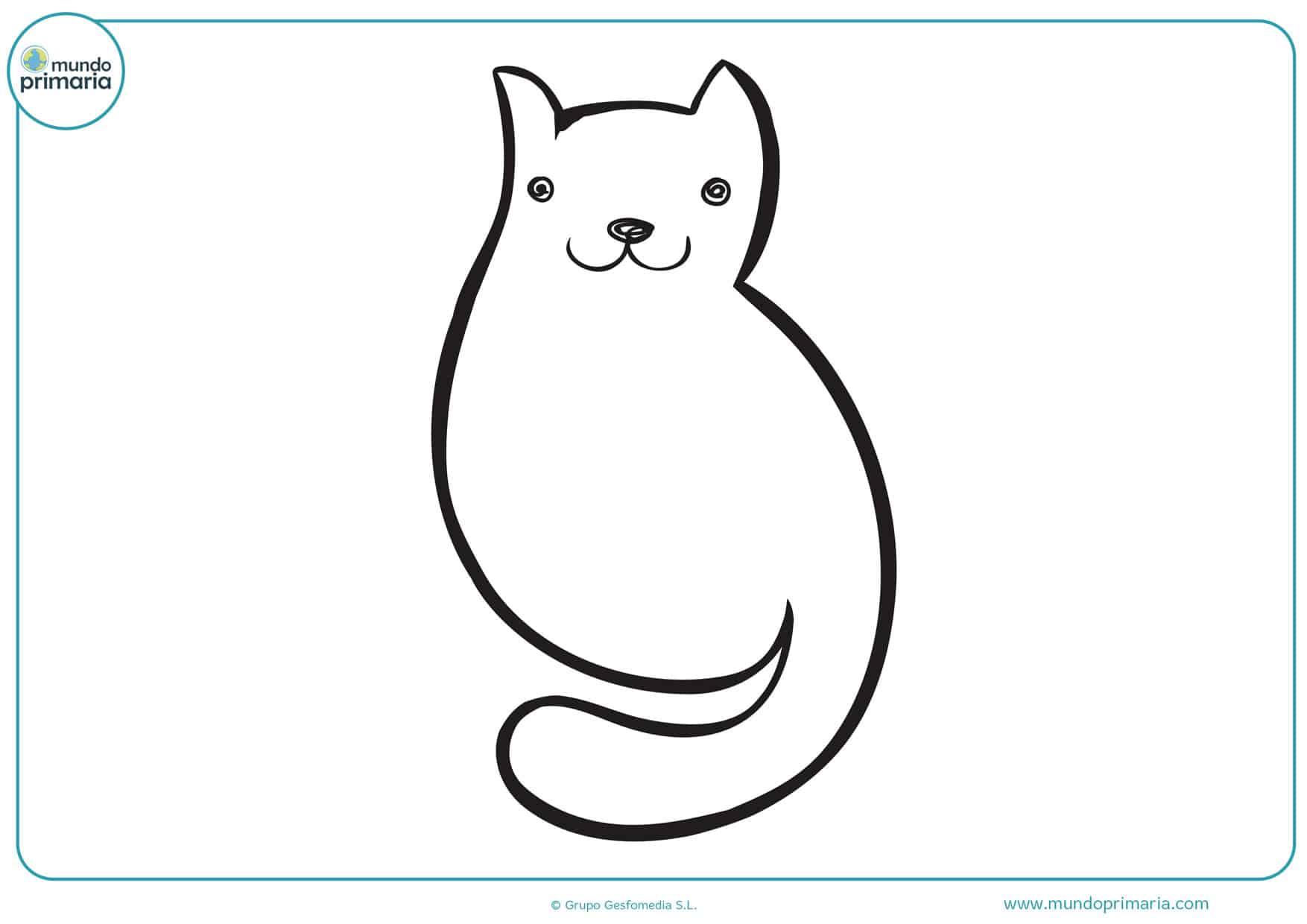 dibujos para imprimir y colorear de gatos