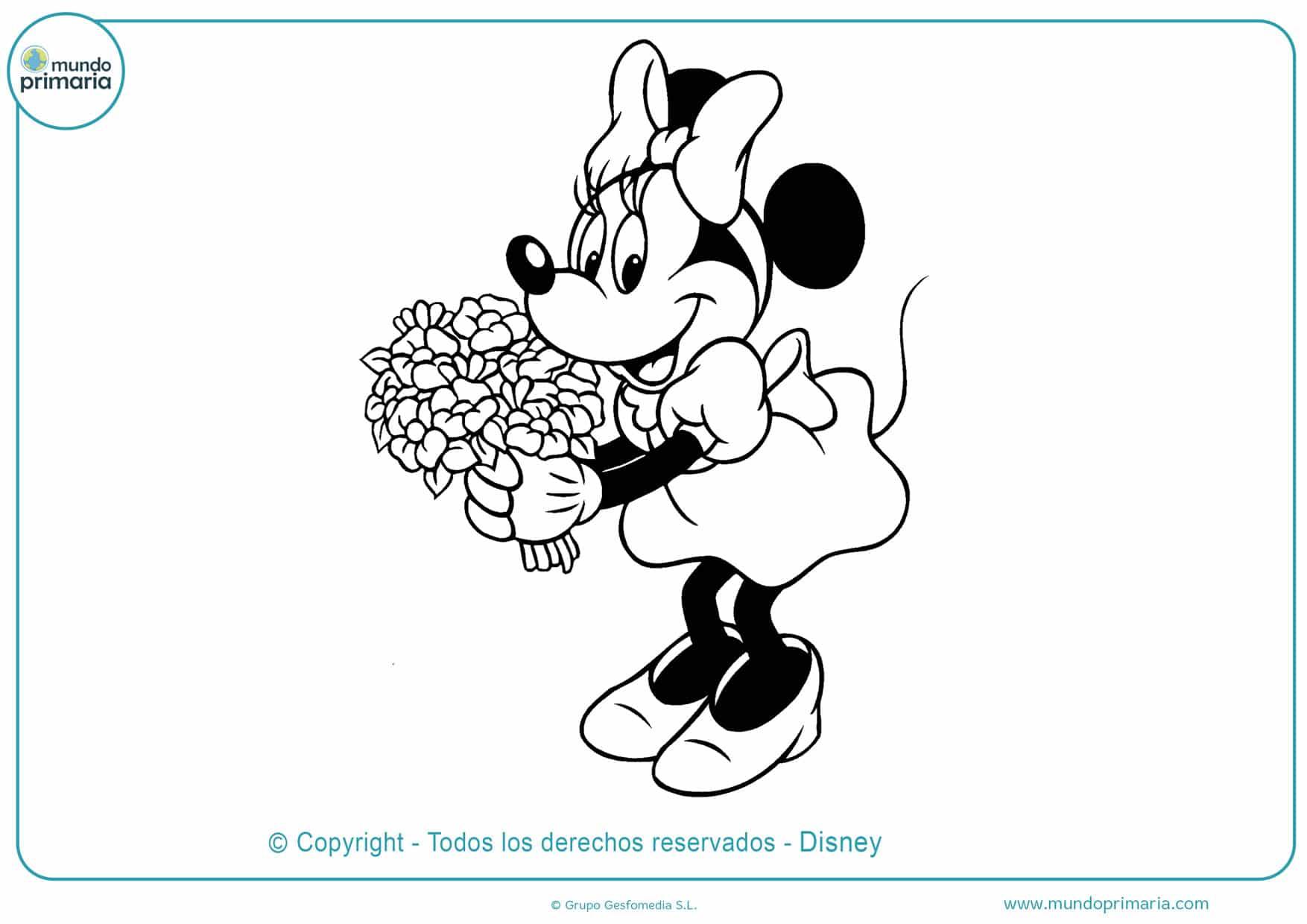 dibujos para imprimir y colorear de minnie mouse