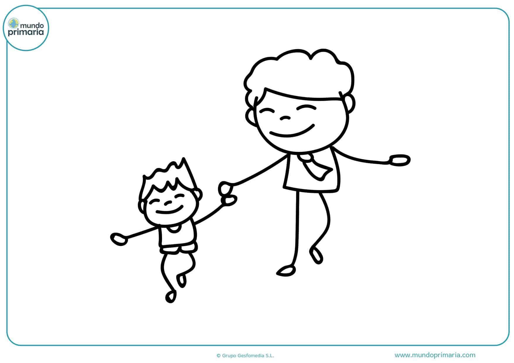 dibujos para imprimir y colorear para el día del padre
