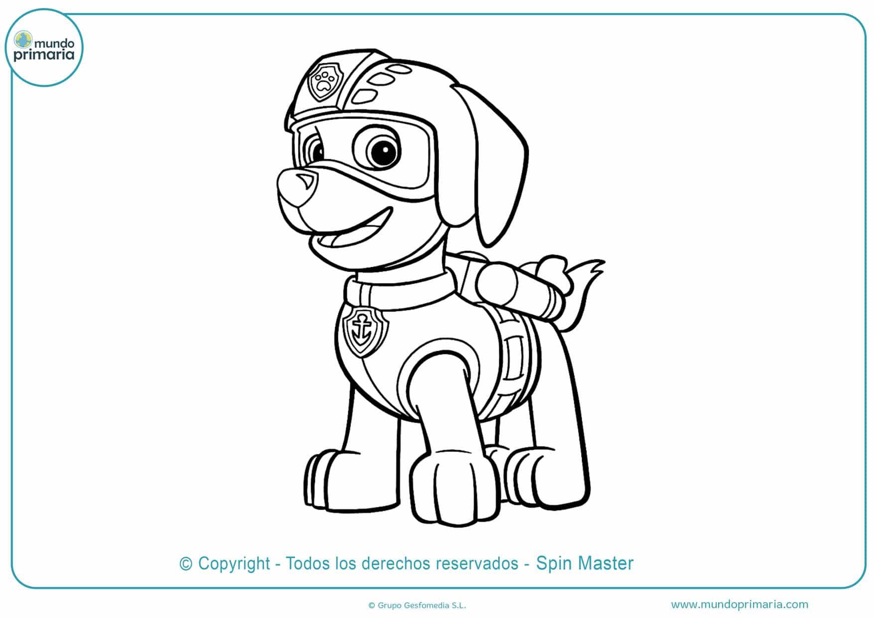 dibujos para imprimir y colorear de la patrulla canina