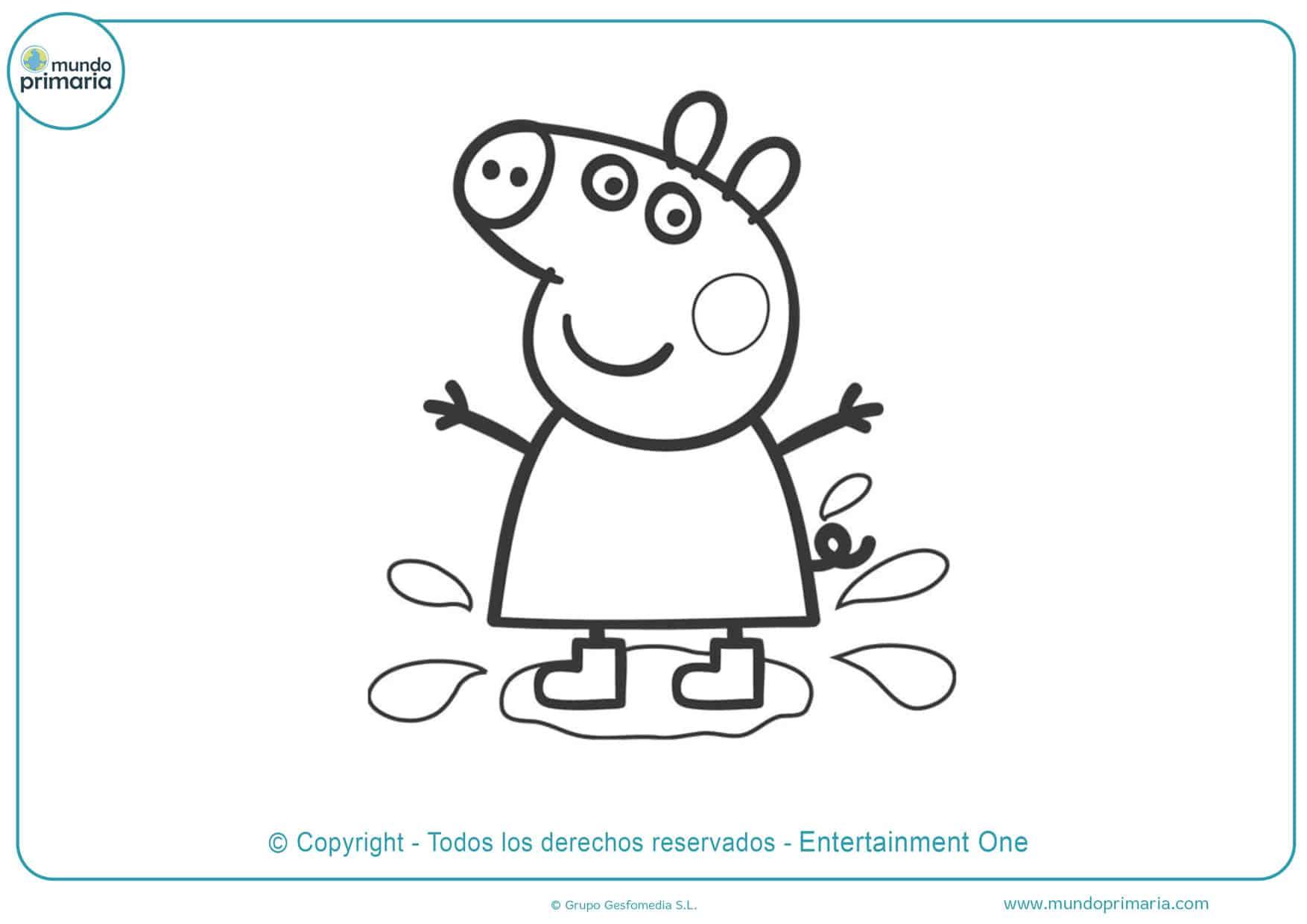 dibujos para imprimir y colorear de peppa pig