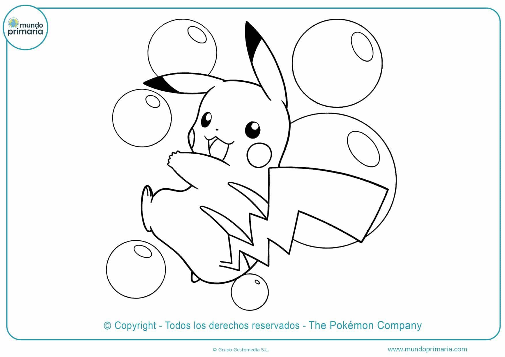 dibujos para imprimir y colorear de pokémon