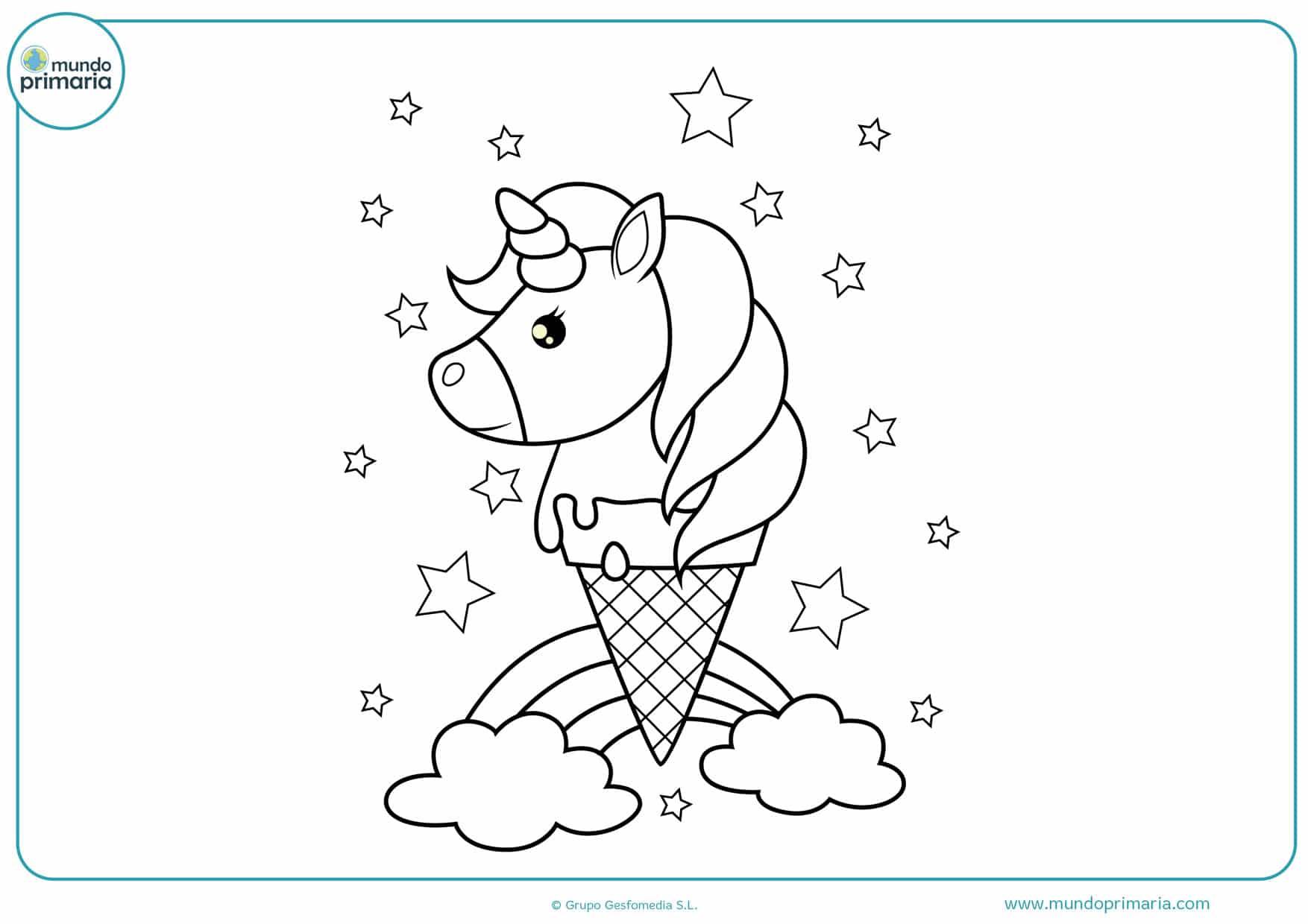 dibujos para imprimir y colorear de unicornios