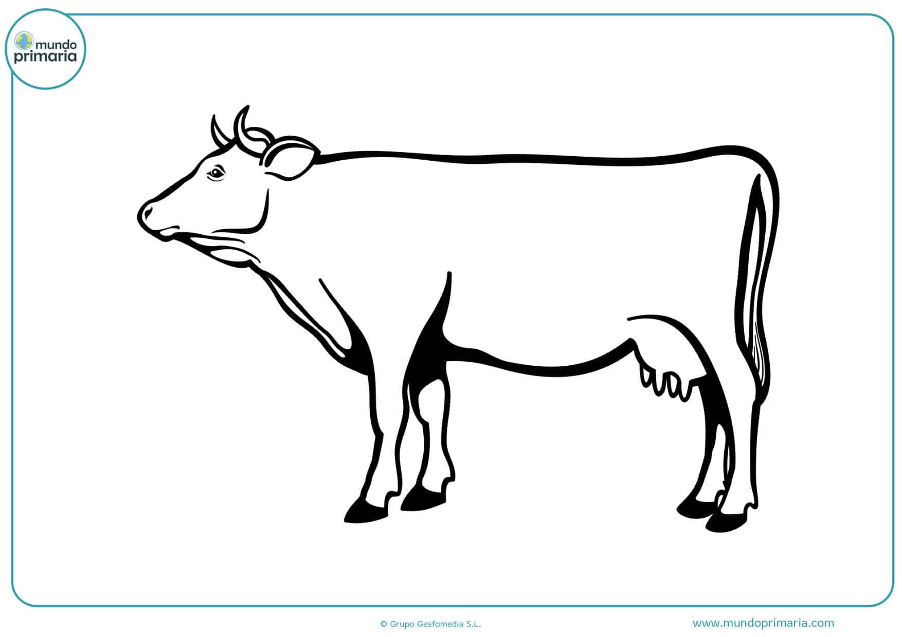 dibujos para imprimir y colorear de vacas