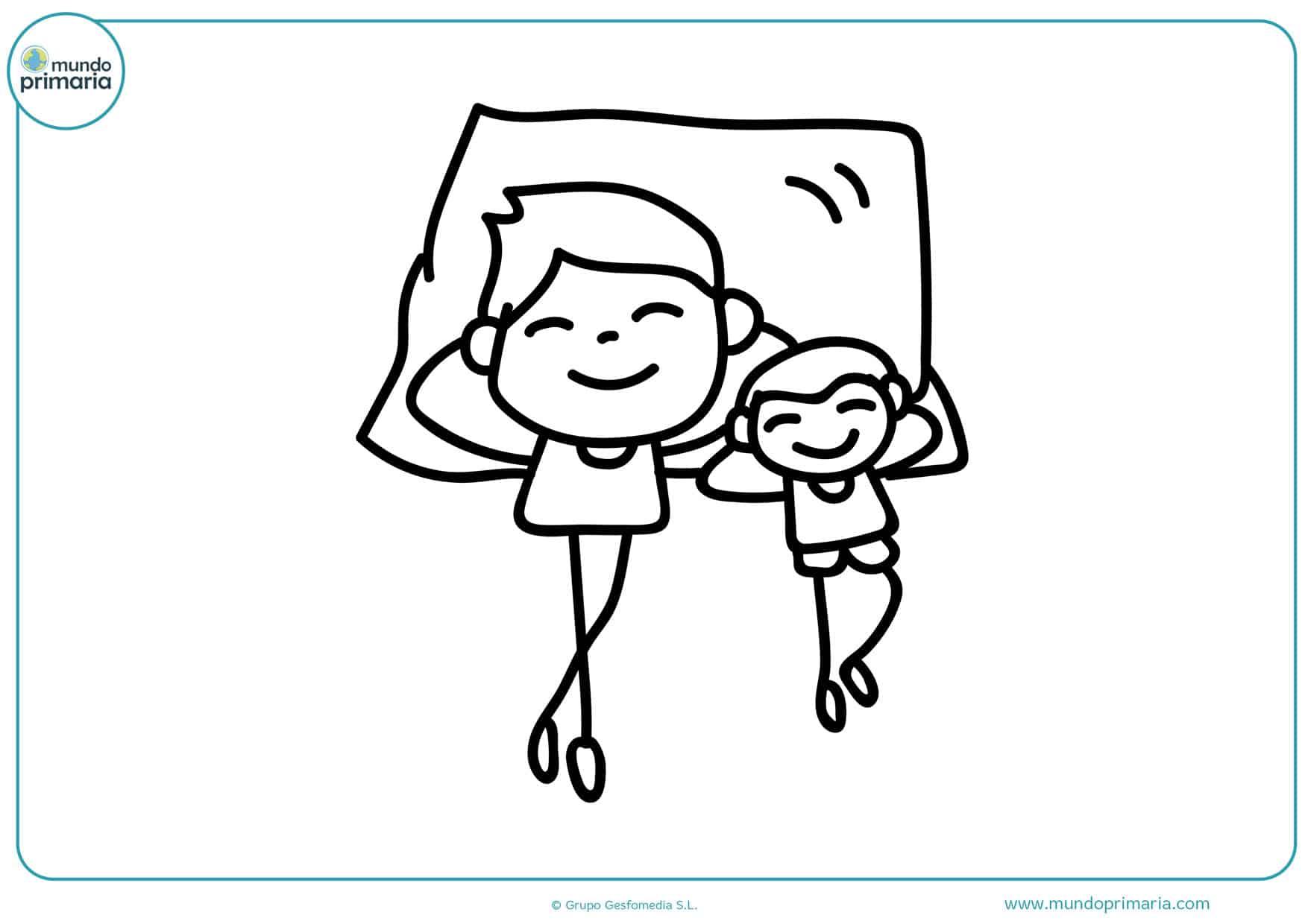 dibujos para imprimir y colorear del día del padre