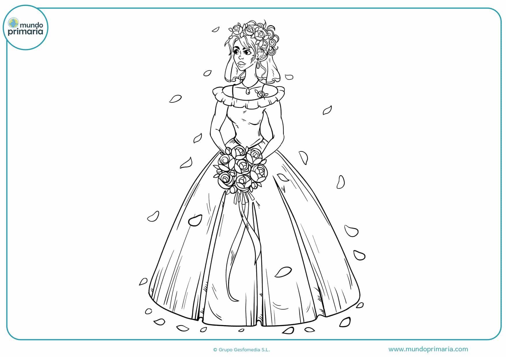 dibujos para pintar de bodas