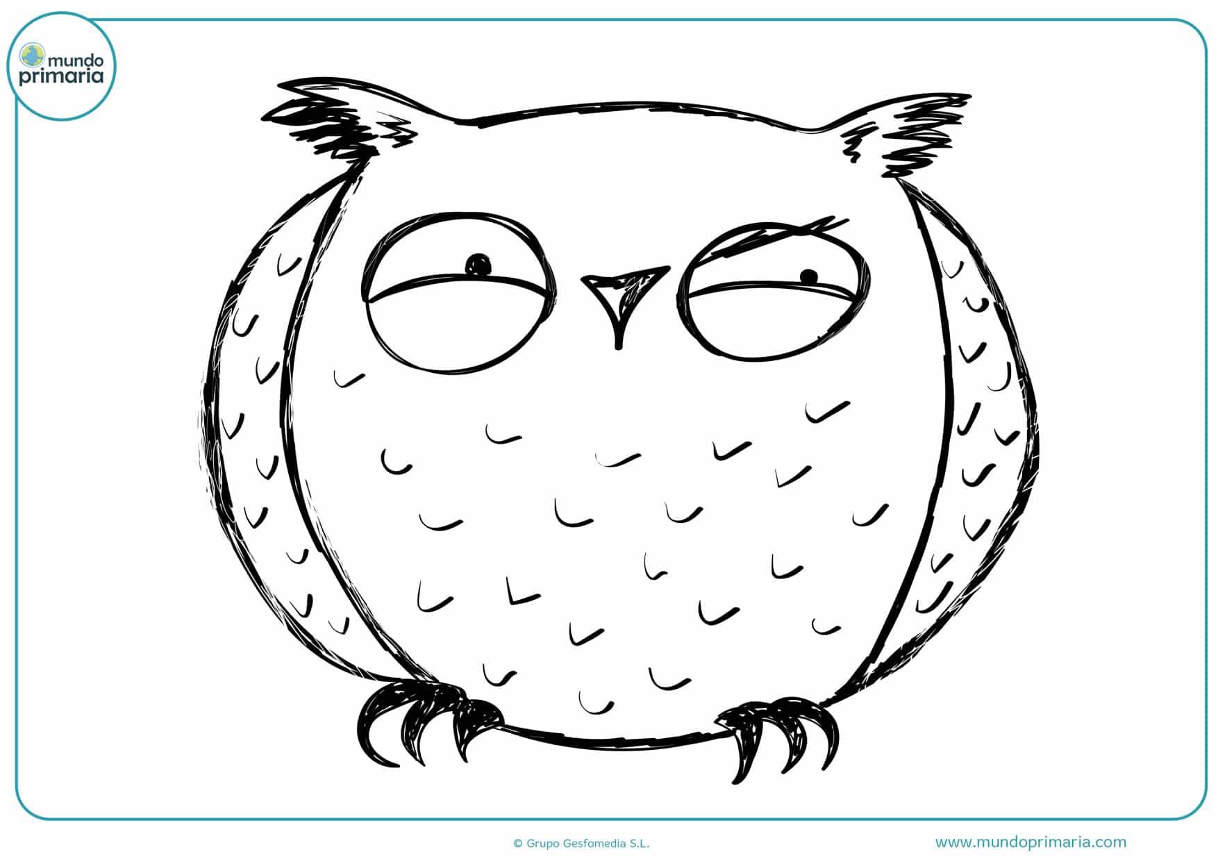 dibujos para pintar de búhos