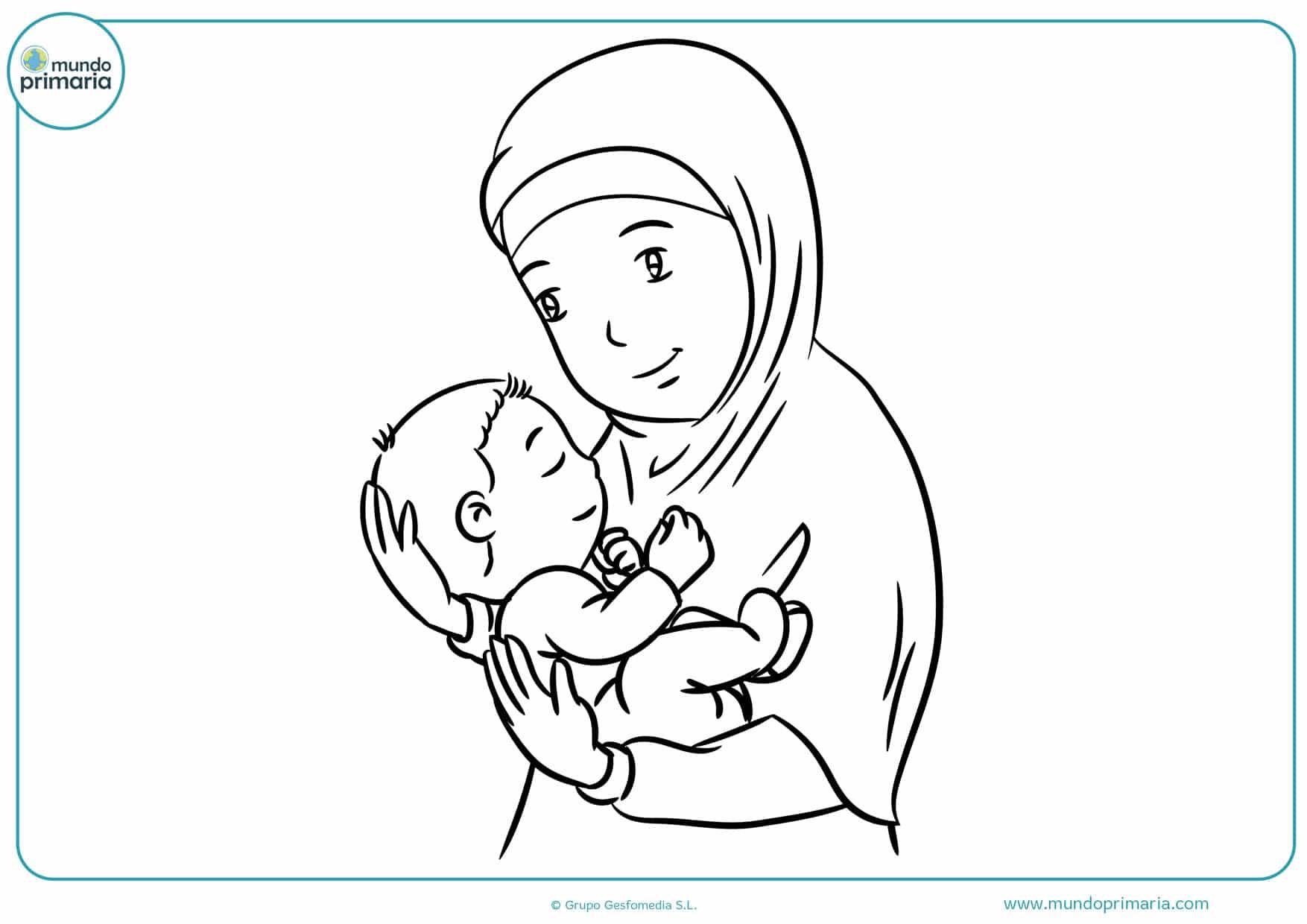 Dibujos Del Día De La Madre Para Colorear Fáciles