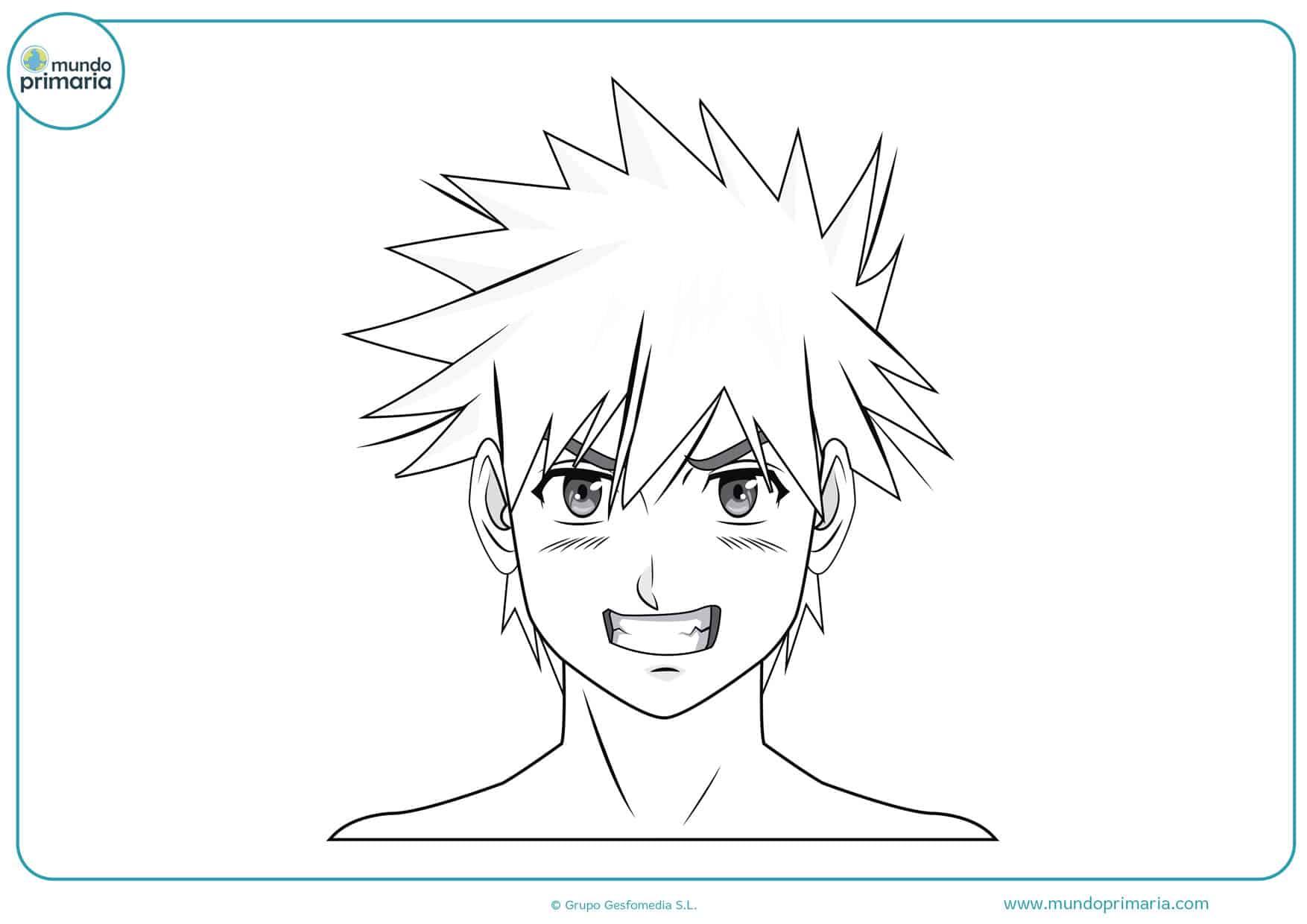 dibujos para pintar de manga