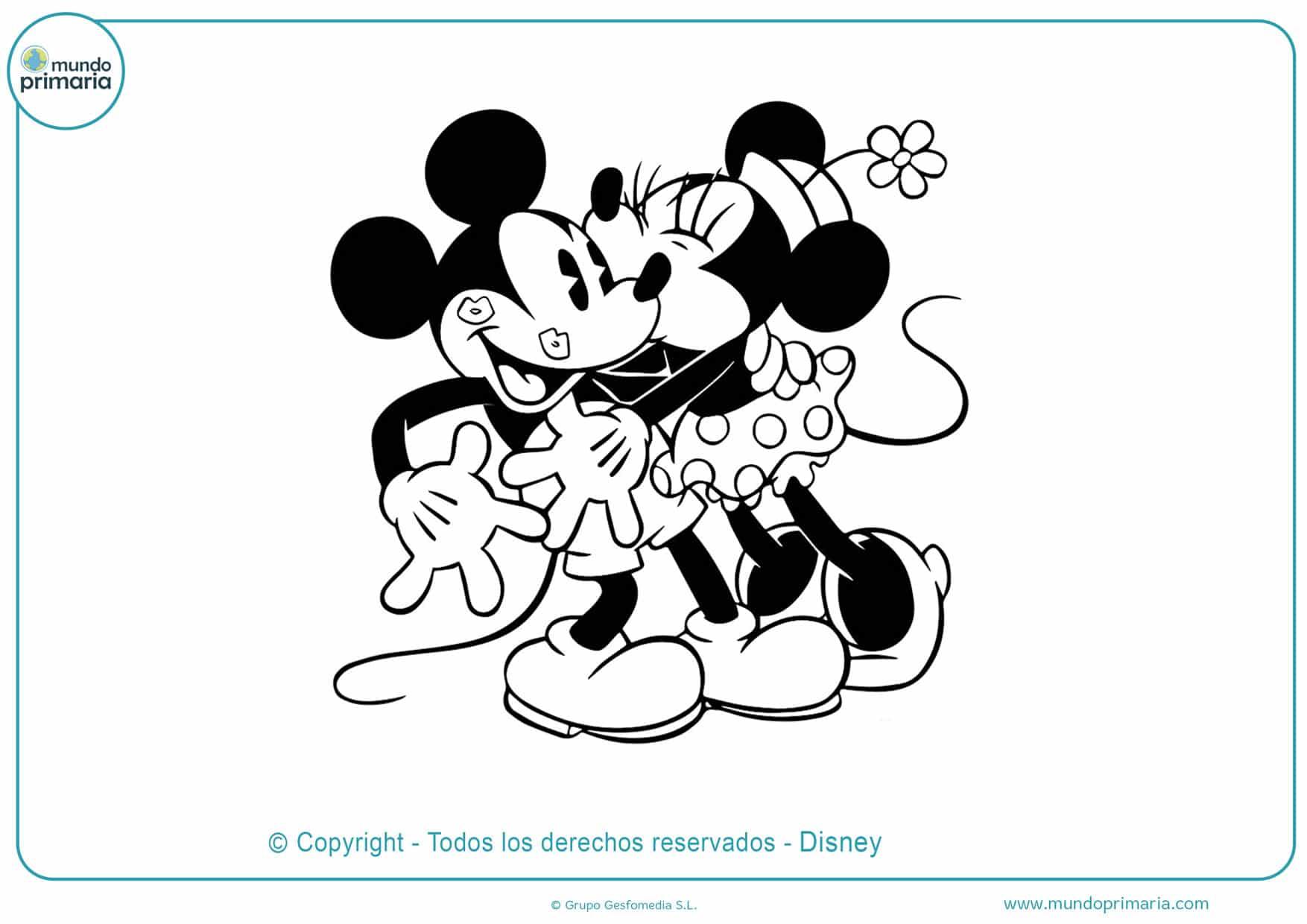 dibujos para pintar de minnie y mickey