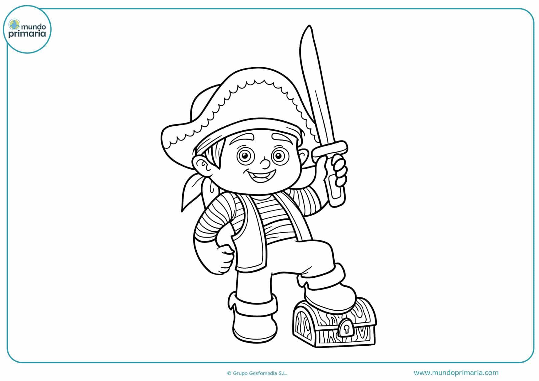 Dibujos De Piratas Para Colorear Mundo Primaria