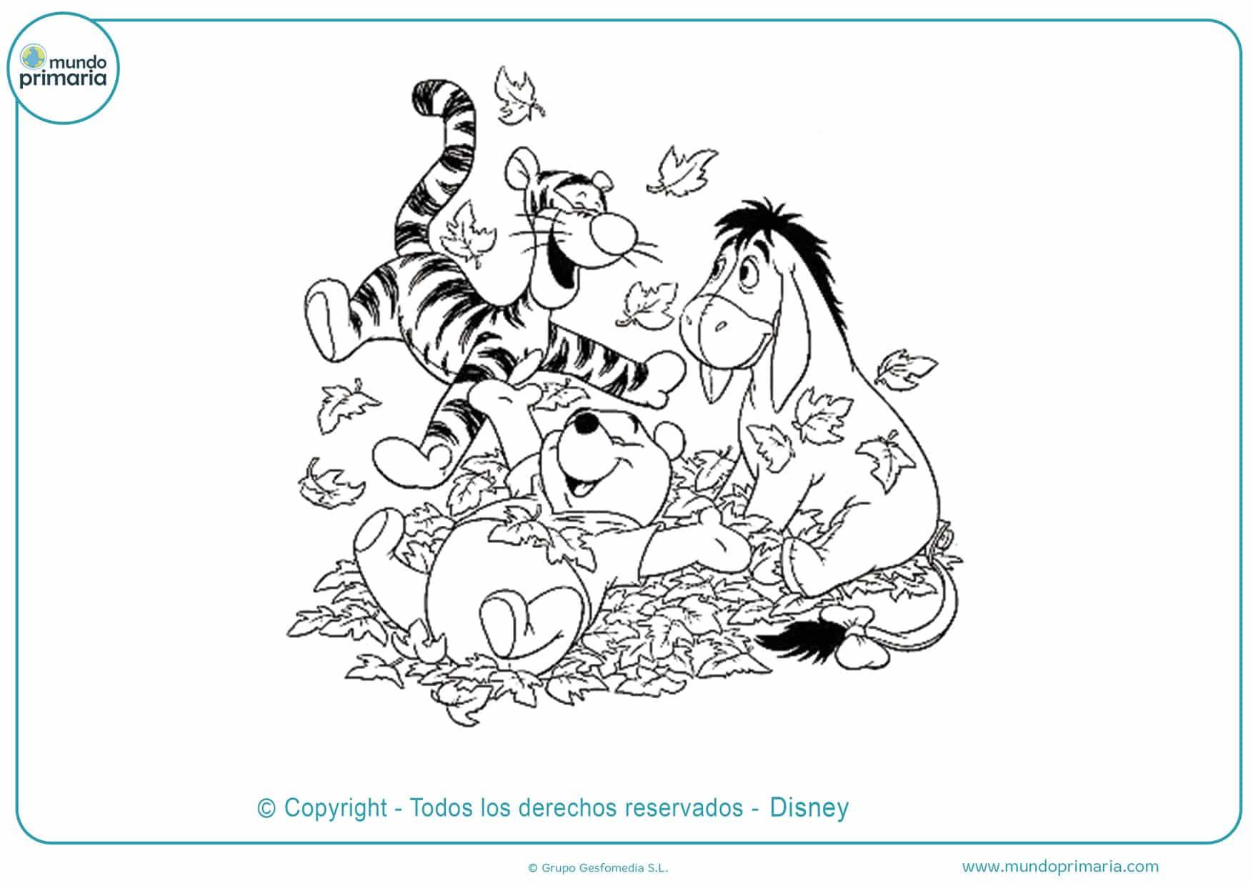 dibujos para pintar de winnie de pooh y sus amigos