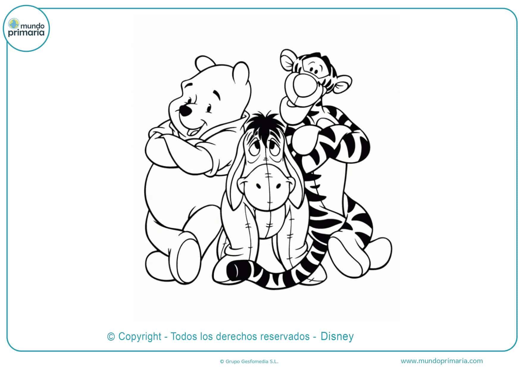 dibujos para colorear winnie de pooh y sus super amigos