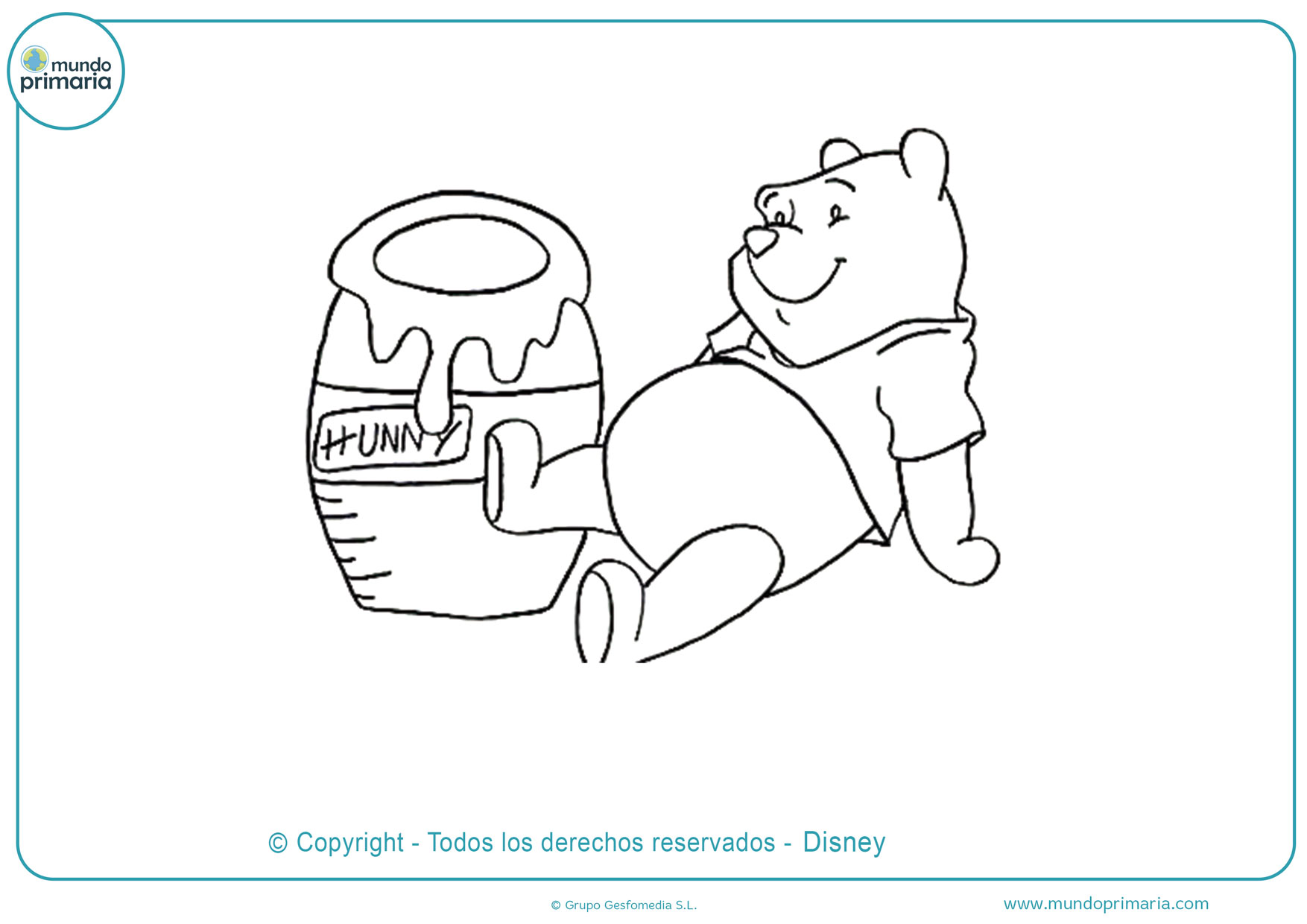 dibujos de para pintar de winnie pooh