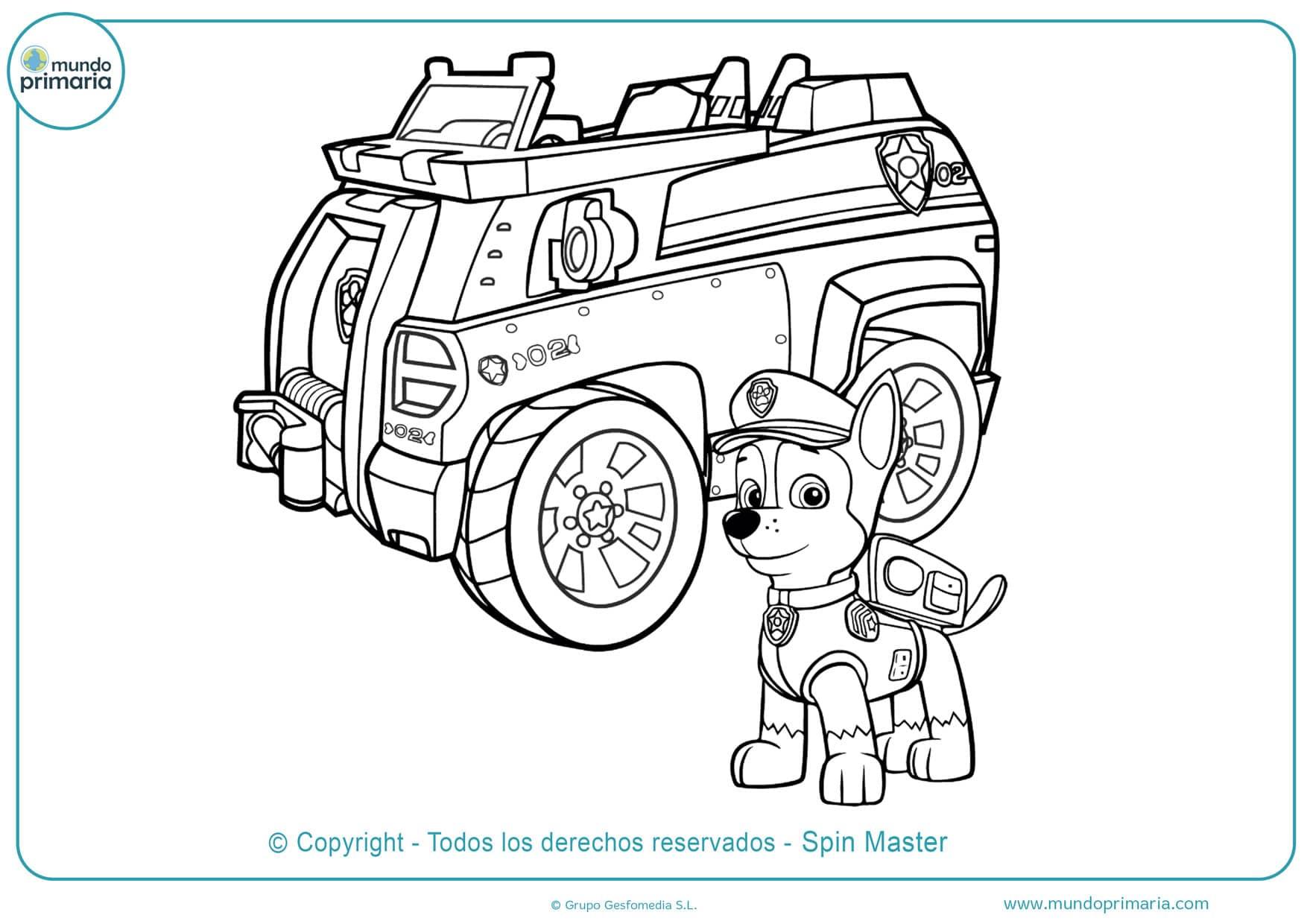 dibujos de la patrulla canina para colorear e imprimir