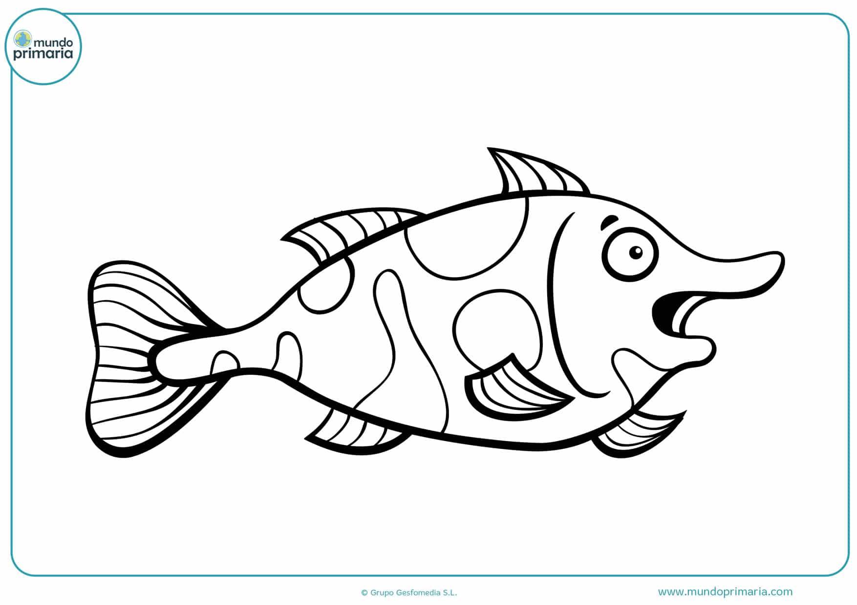 dibujos de peces infantiles para colorear