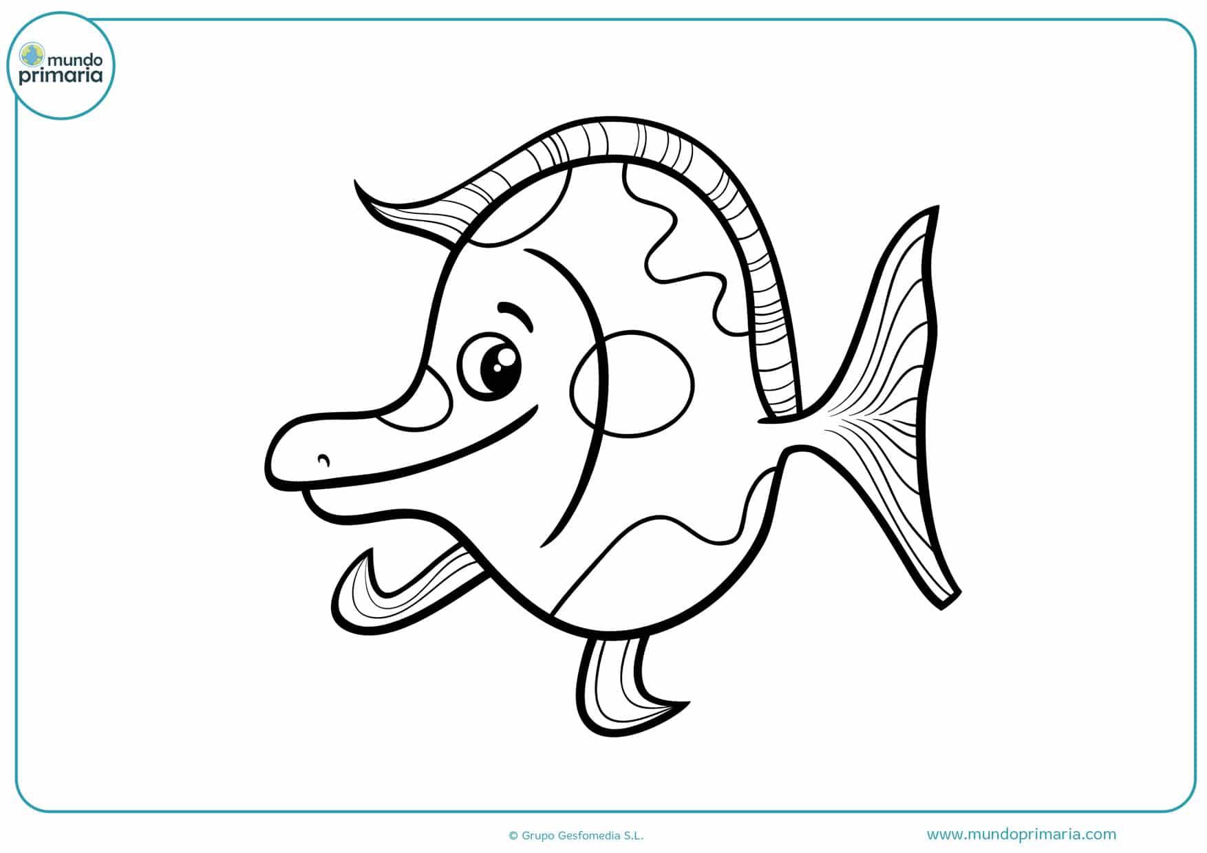 dibujos de peces para colorear gratis