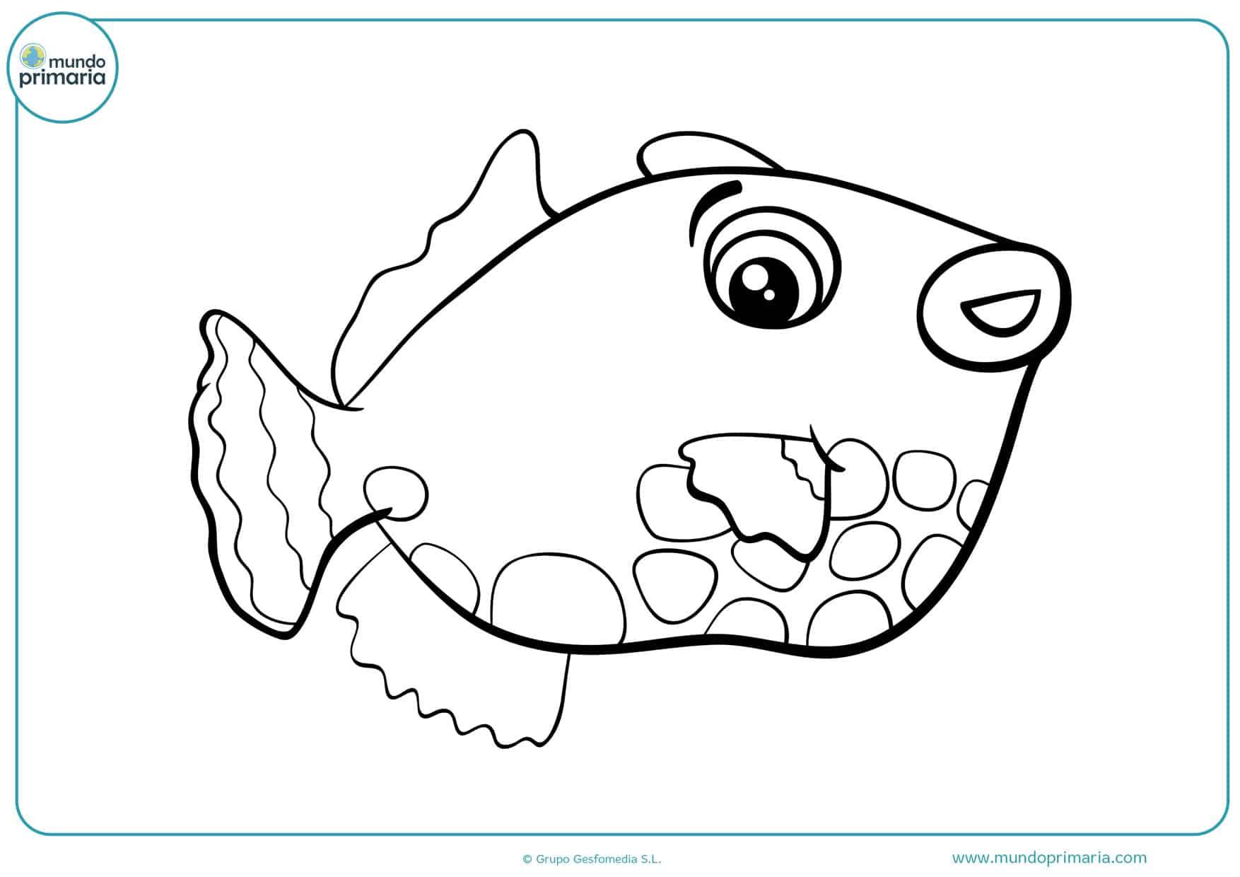 dibujos de peces para colorear infantiles