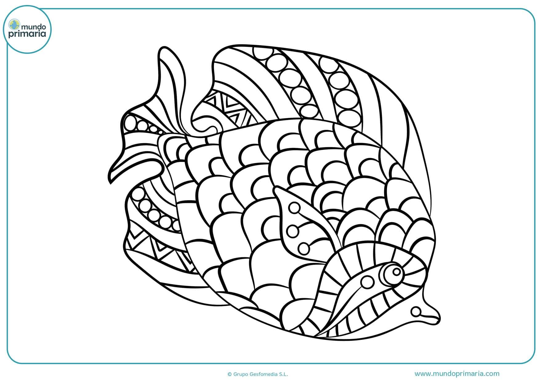 dibujos de peces tropicales para colorear