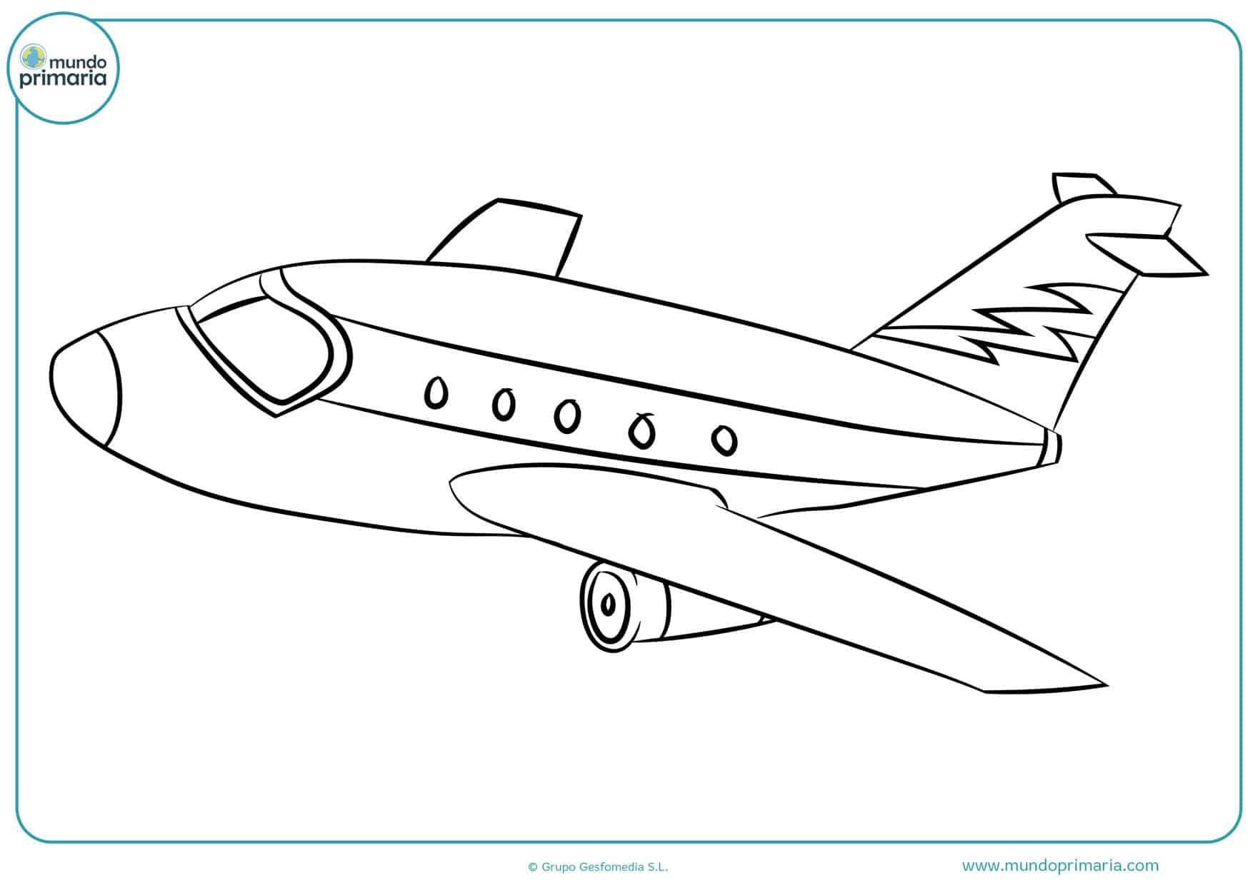 dibujos de la película de aviones para colorear