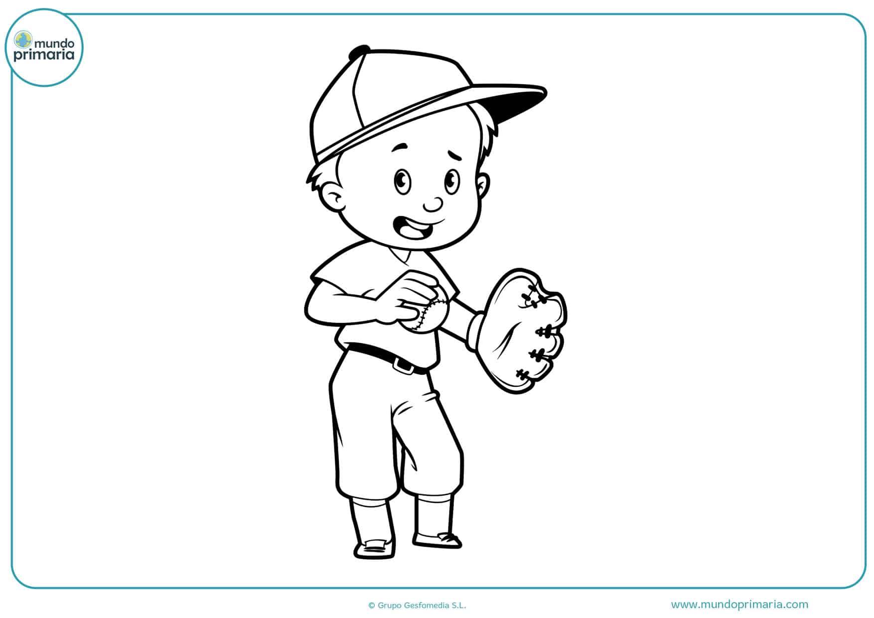 dibujos de pelota de béisbol para colorear