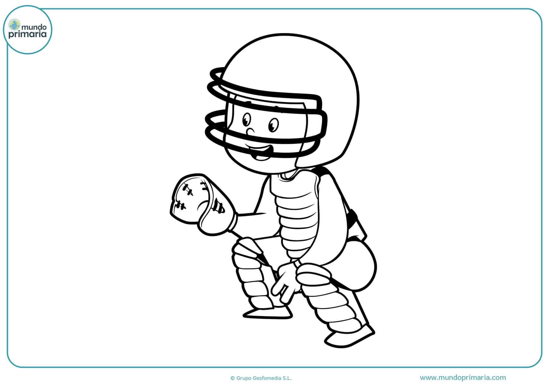 dibujos de pelota de béisbol para imprimir y colorear