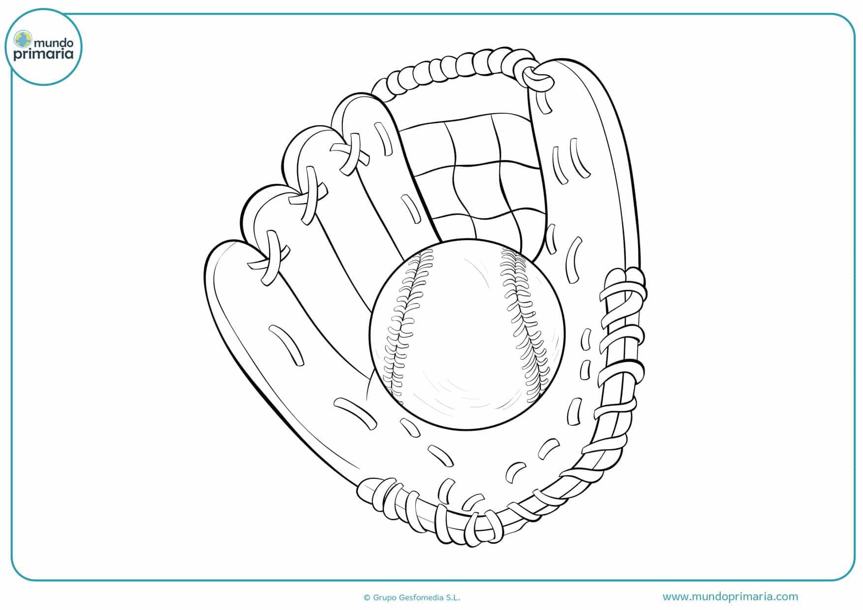 dibujos pelotas de béisbol para colorear